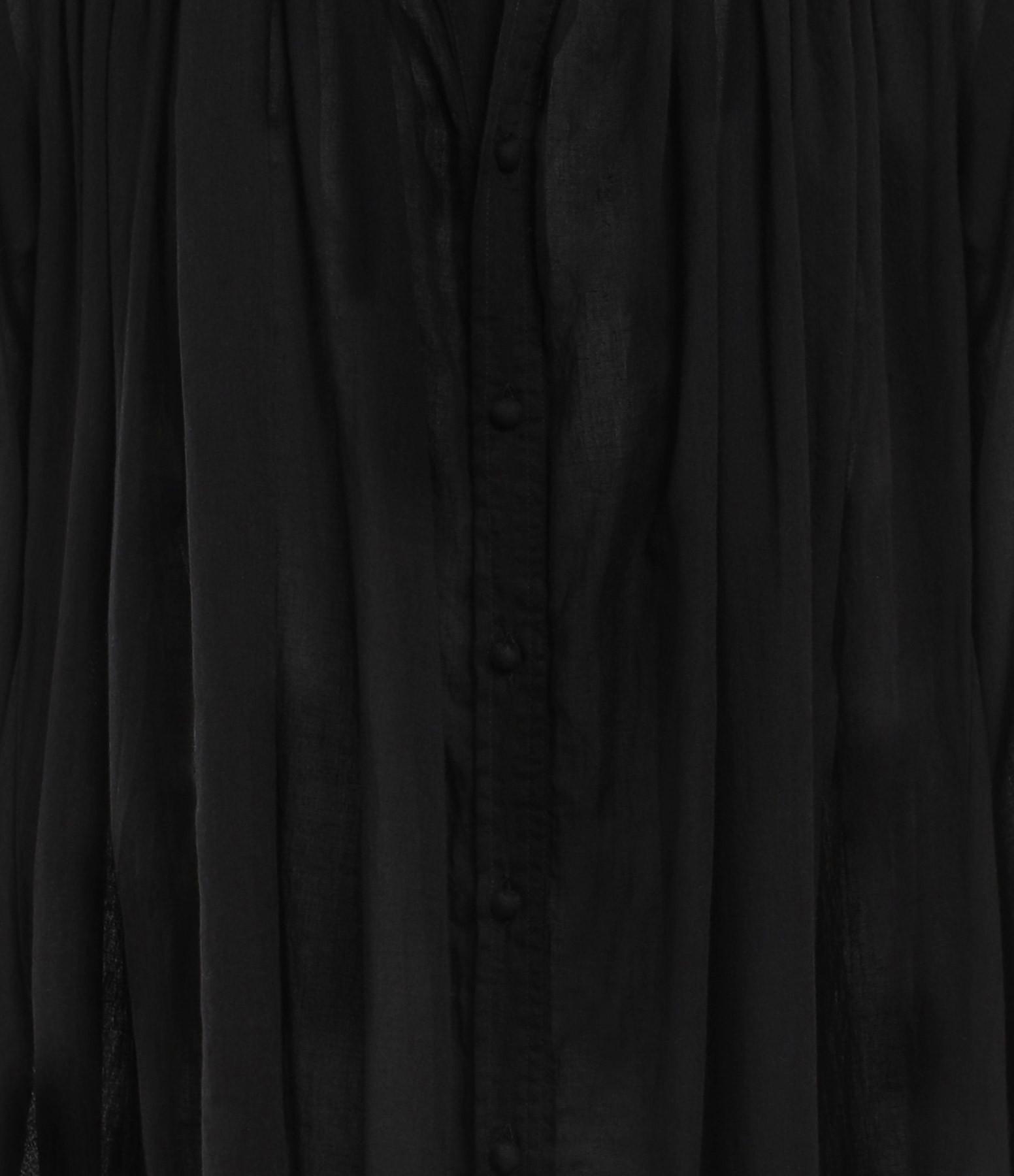 LAURENCE BRAS - Robe Cigarette Coton Noir