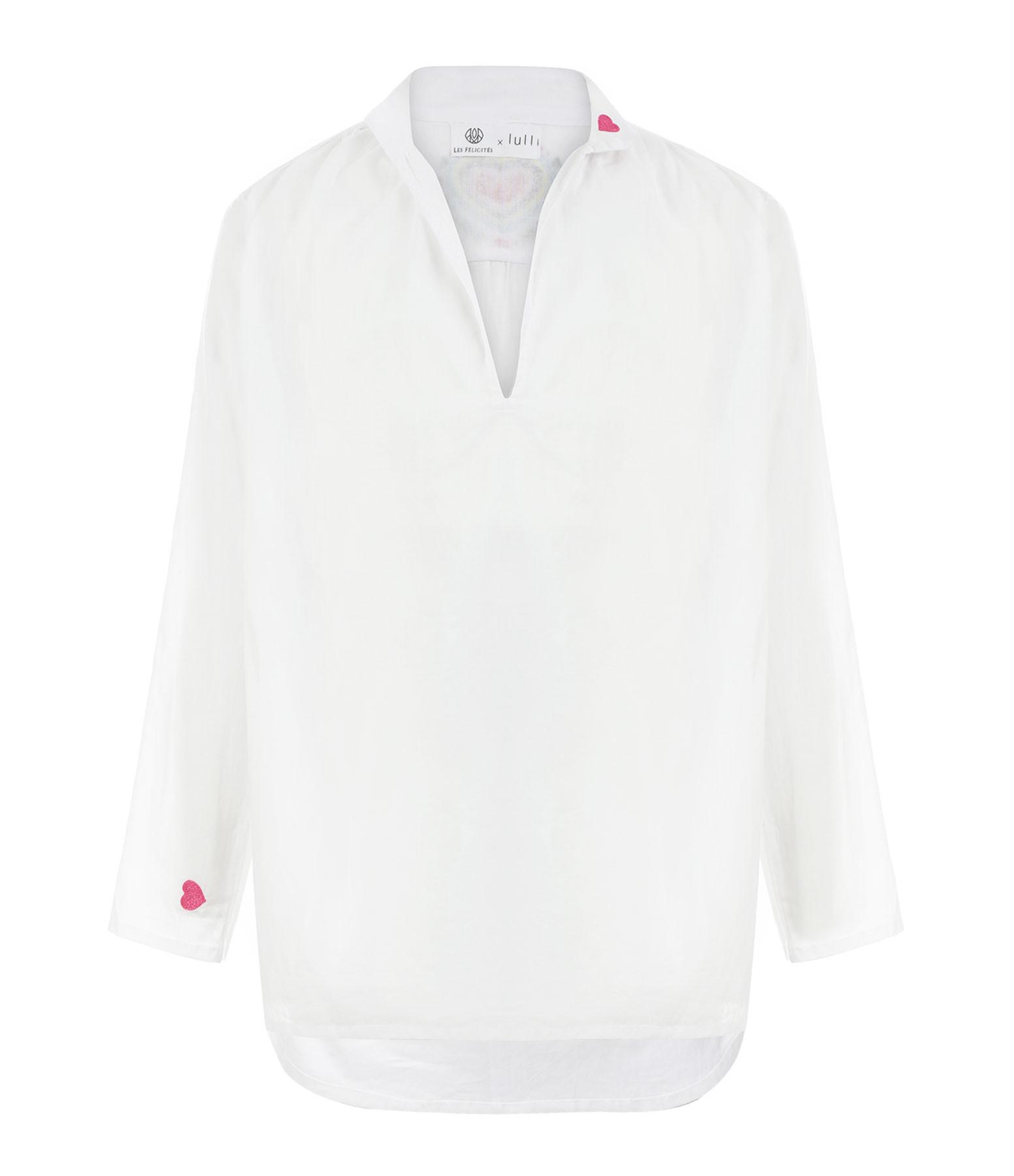 LES FÉLICITÉS - Blouse Coeur Sacré Coton Blanc, Collab' Lulli