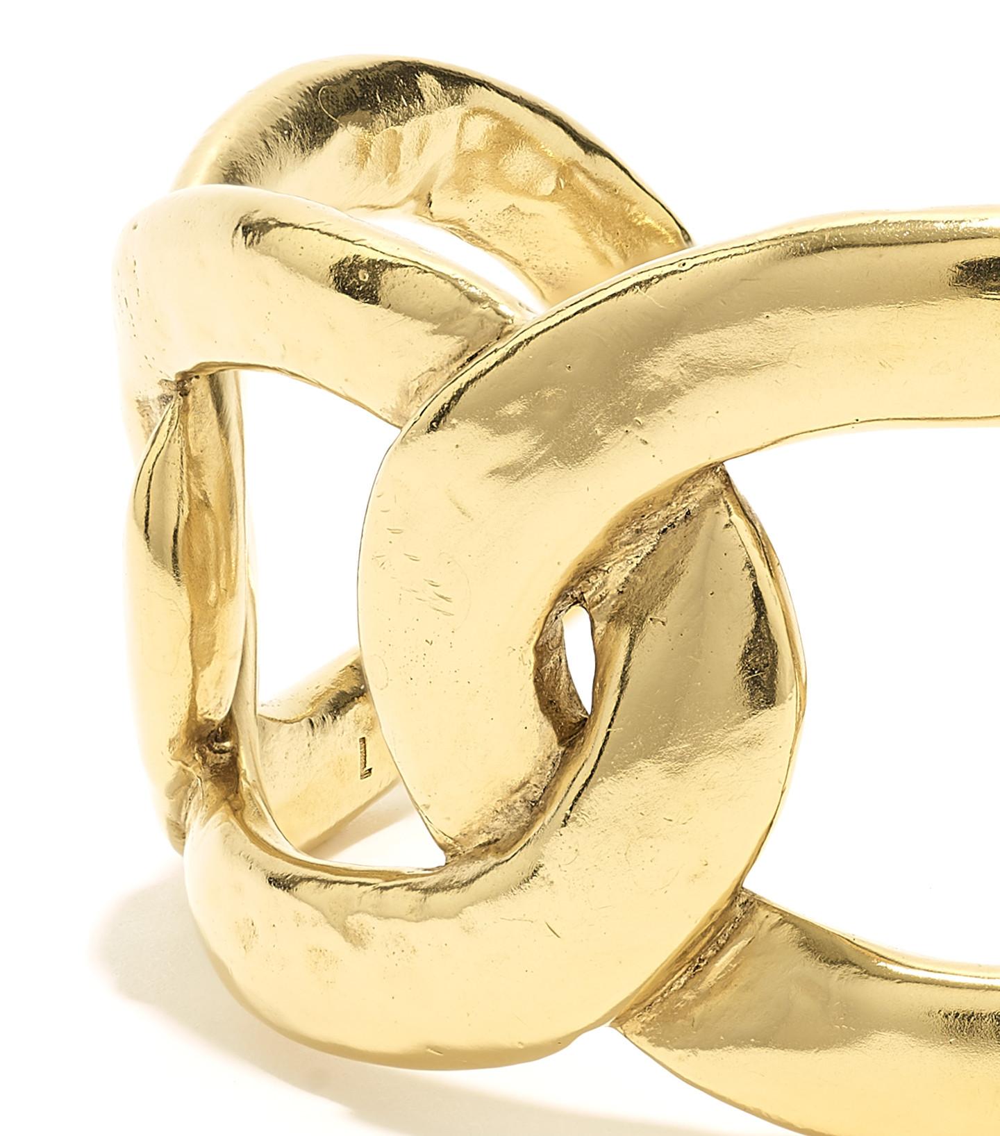 GOOSSENS - Bracelet Lhassa Grand Modèle Plaqué Or