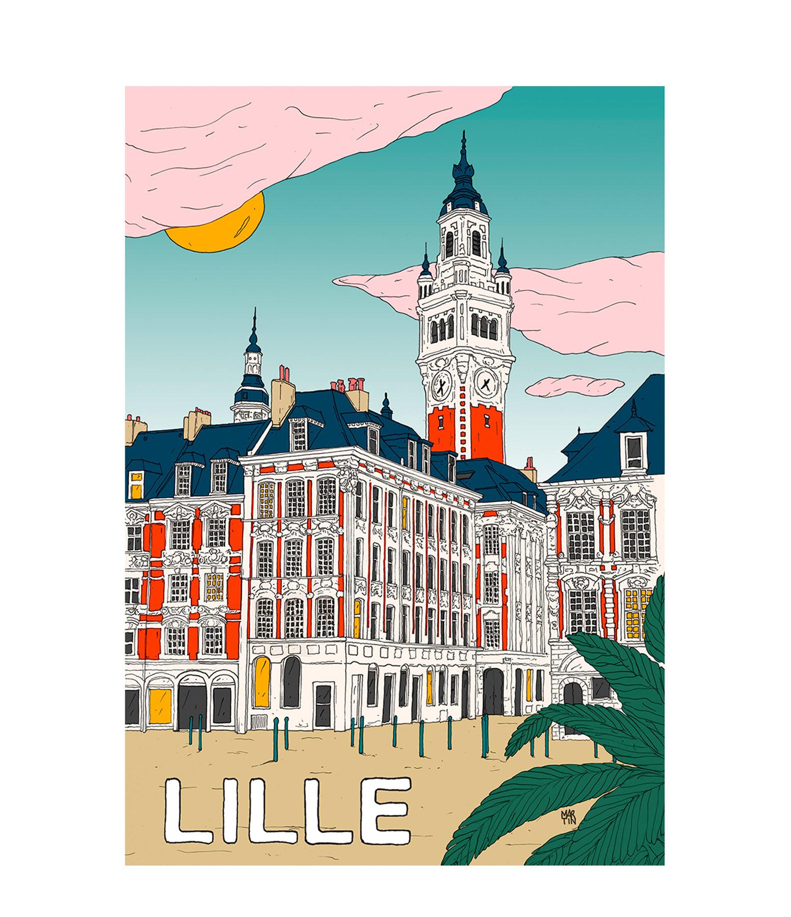 MAISON SARAH LAVOINE - Affiche Lille 50x70cm