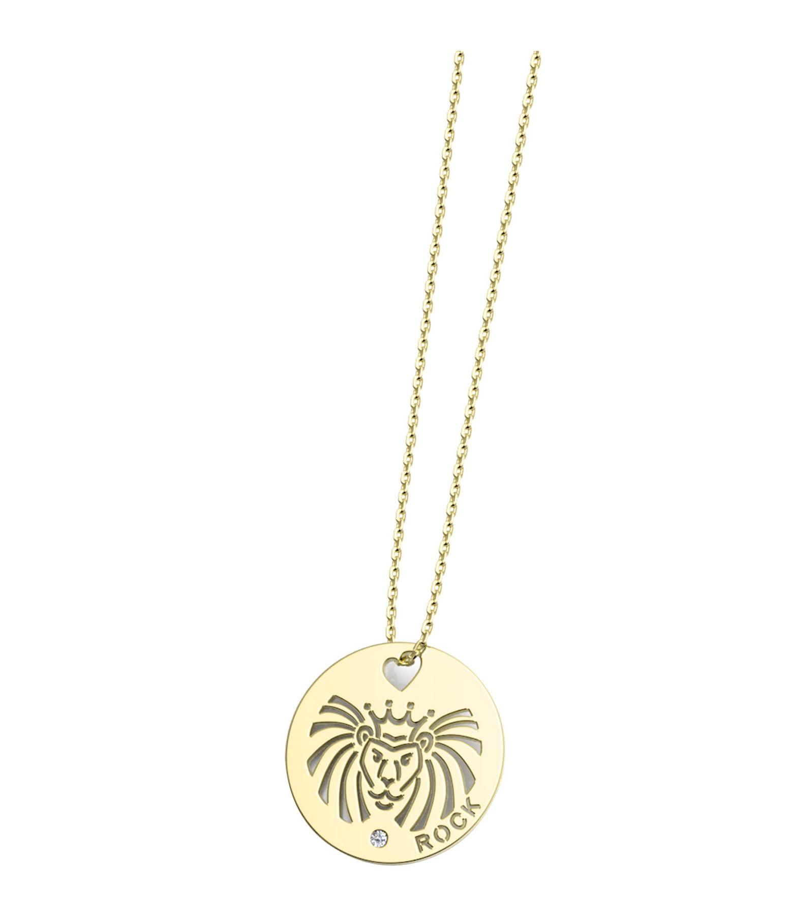 NAVA JOAILLERIE - Collier Horosco-Rock Lion Diamants Or
