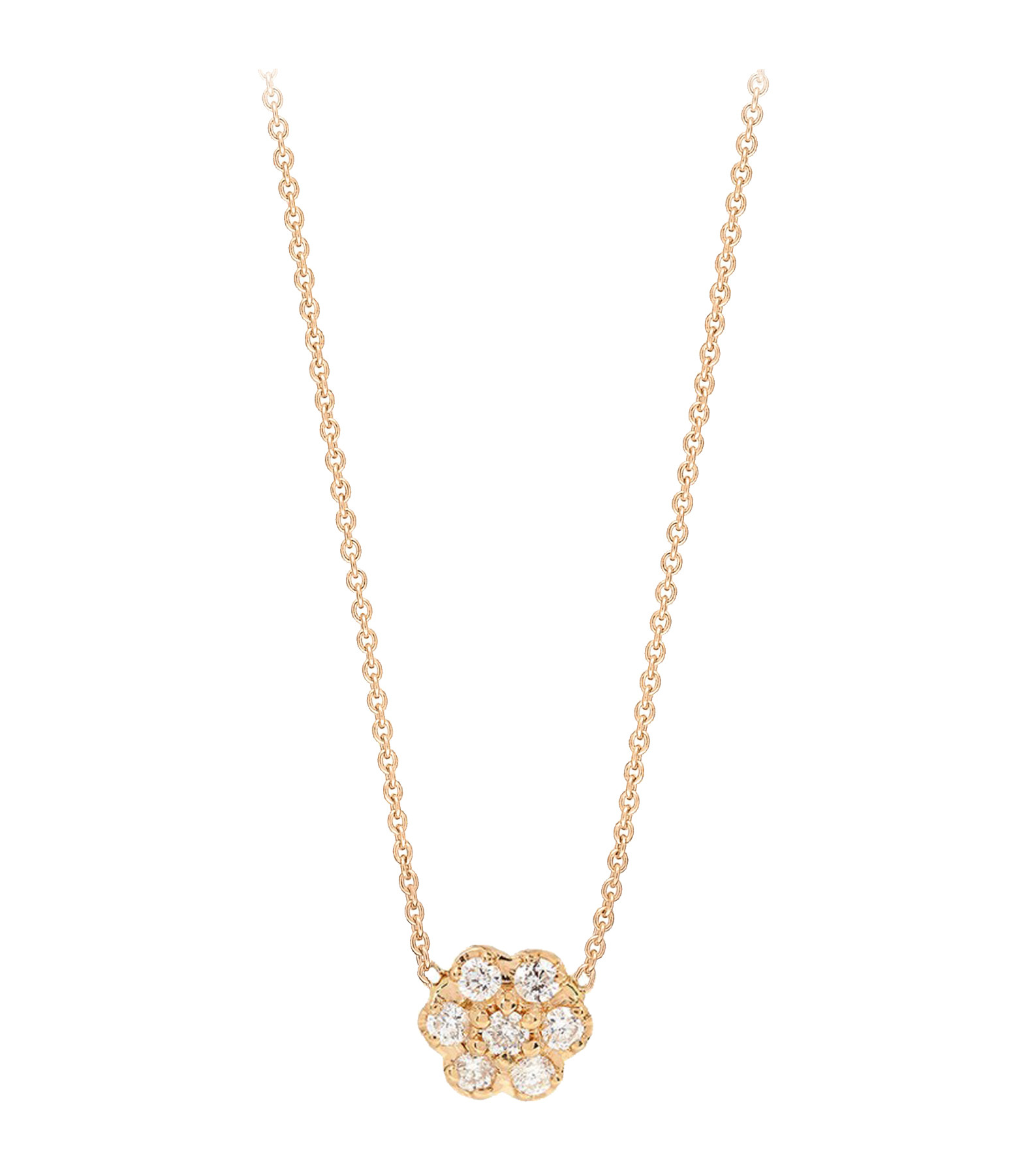 Collier mini diamond lotus