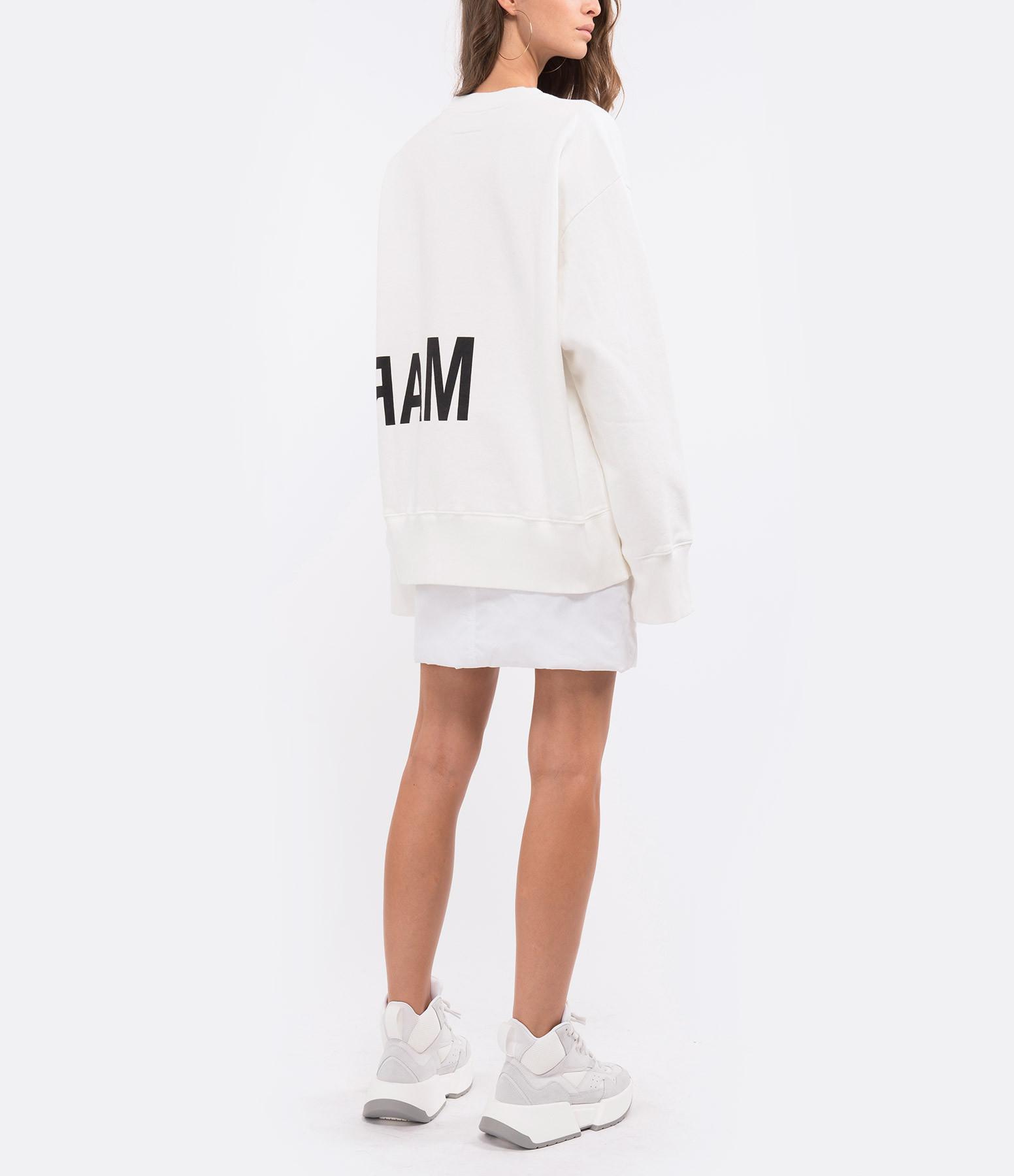 MM6 MAISON MARGIELA - Sweatshirt Coton Beige