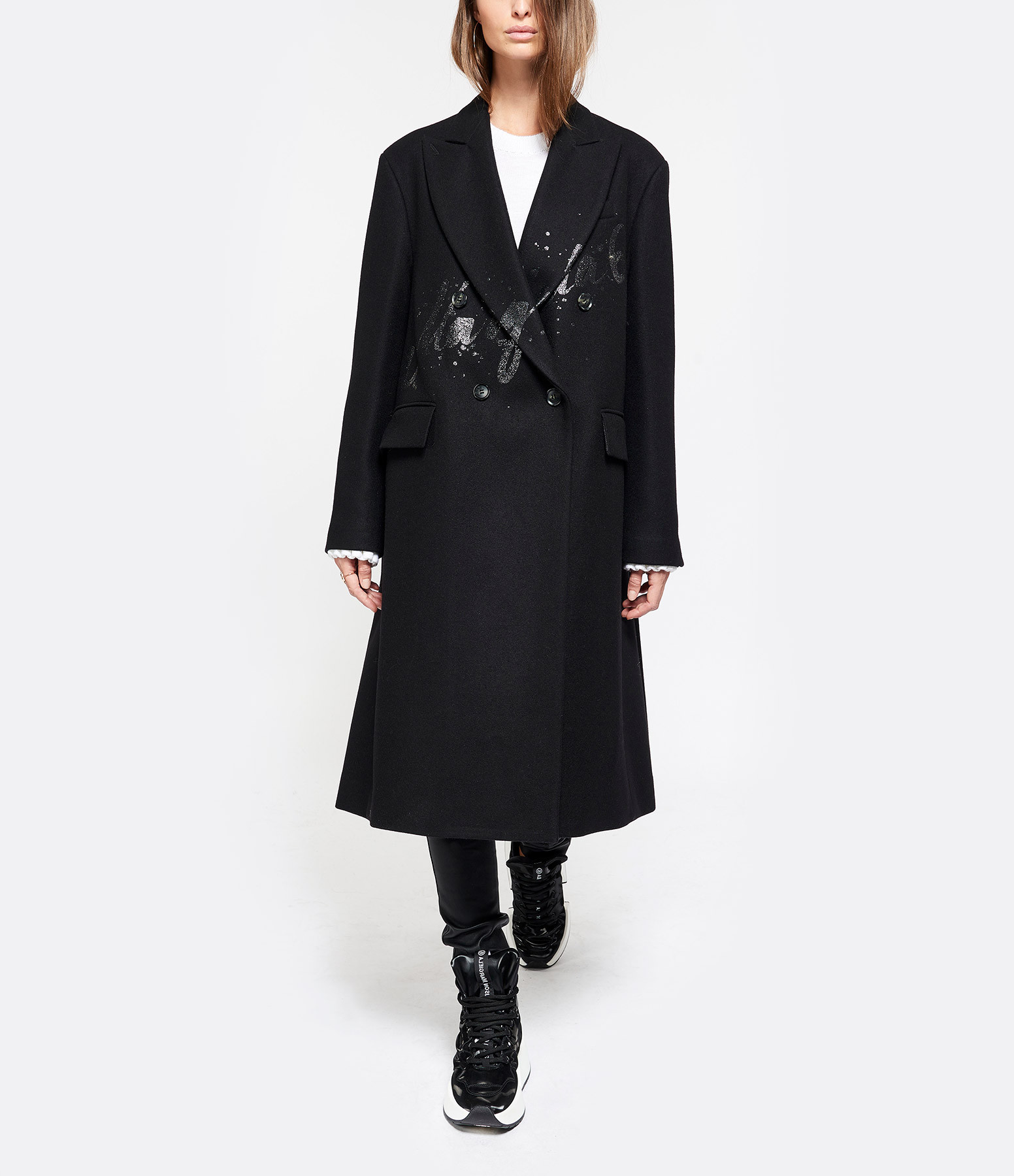 MM6 MAISON MARGIELA - Manteau Loose Noir