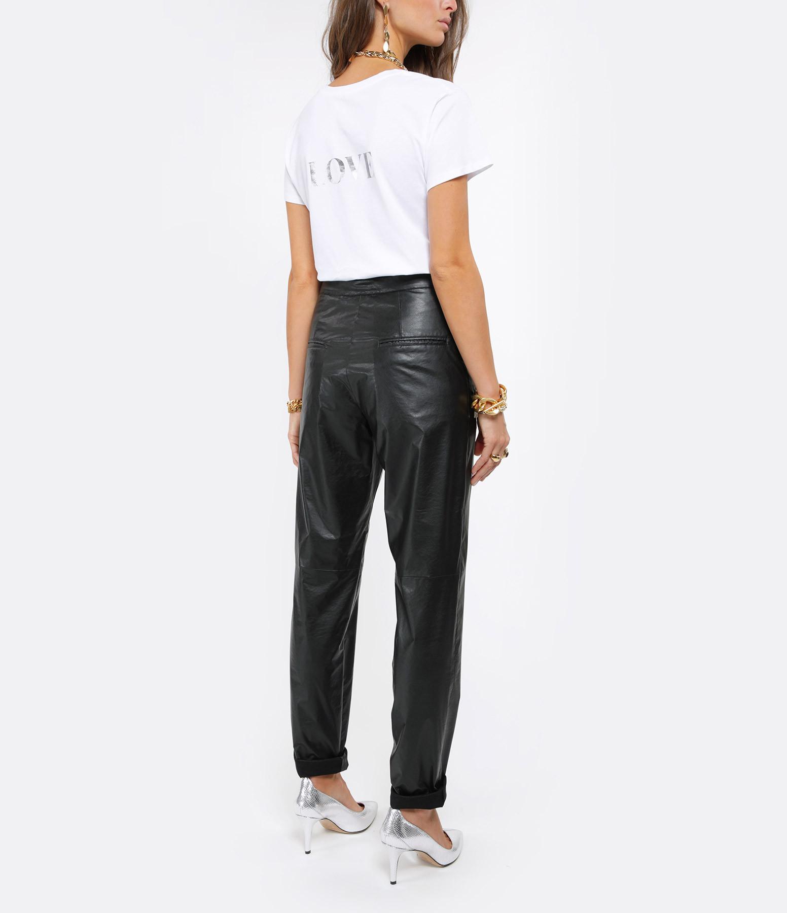 JEANNE VOULAND - Tee-shirt Cris Rock Love Coton Blanc Argent