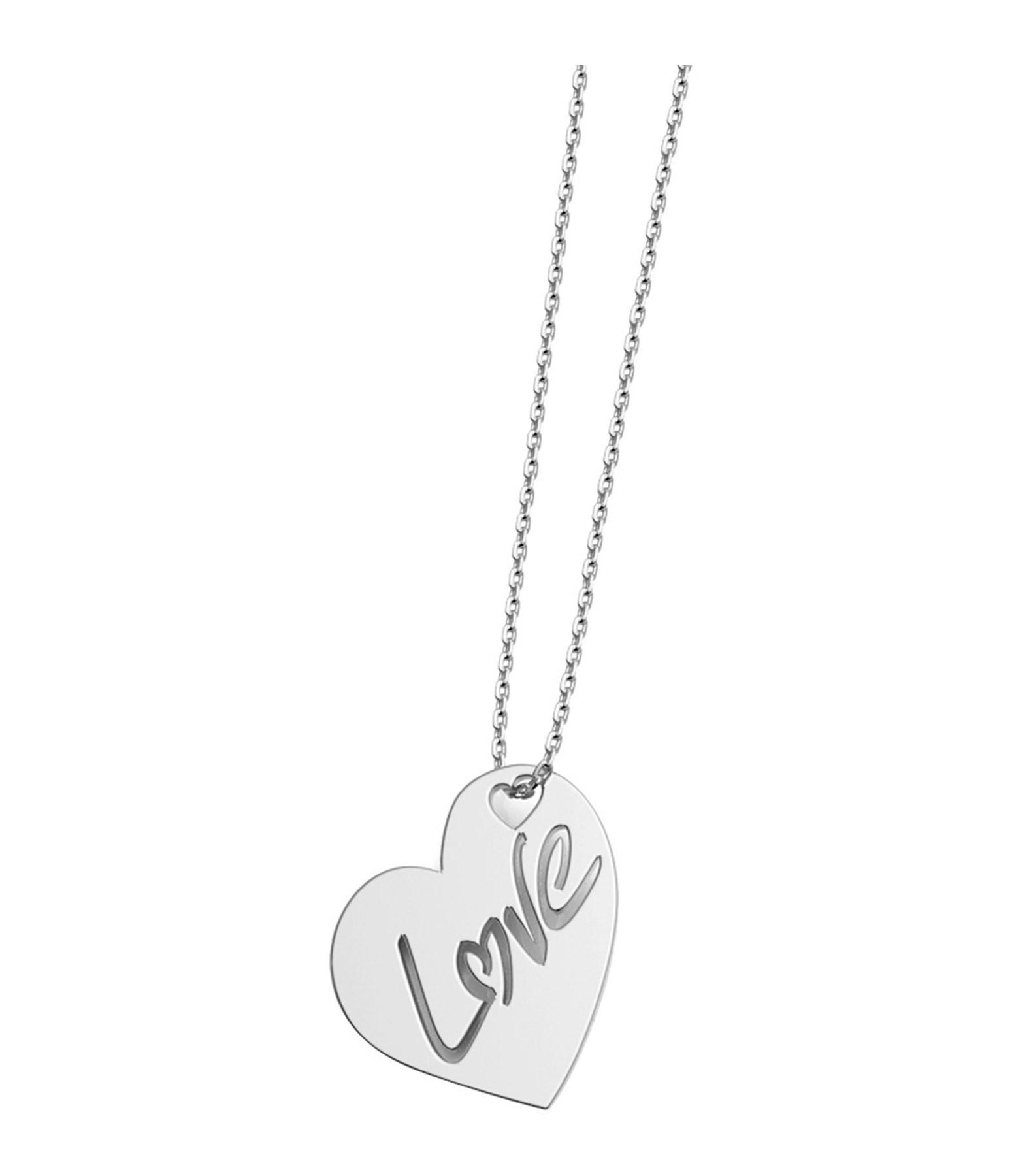 NAVA JOAILLERIE - Collier Cœr Love L Diamants Or Blanc