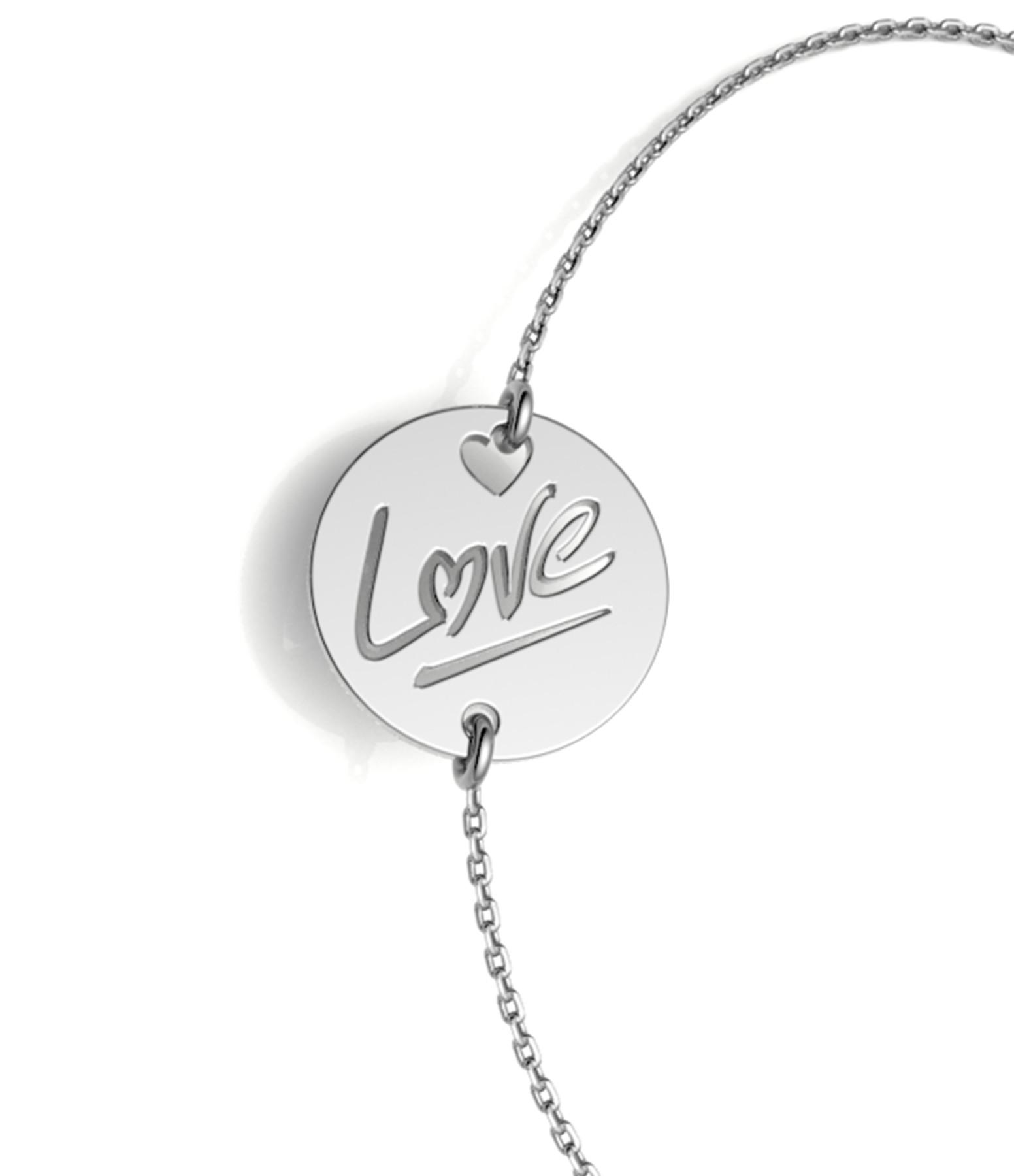 NAVA JOAILLERIE - Bracelet Love S Or Blanc