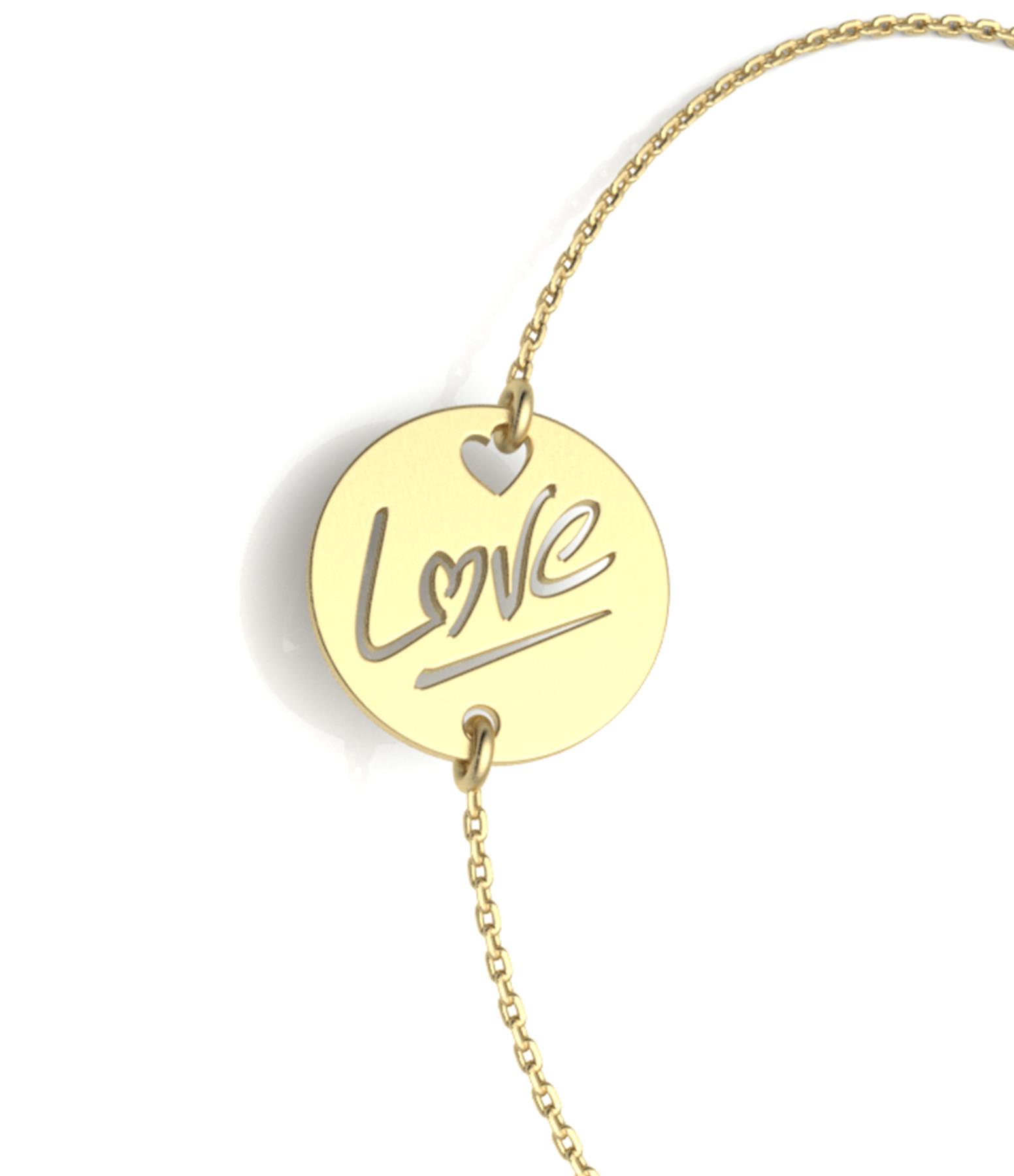 NAVA JOAILLERIE - Bracelet Love S Or Jaune
