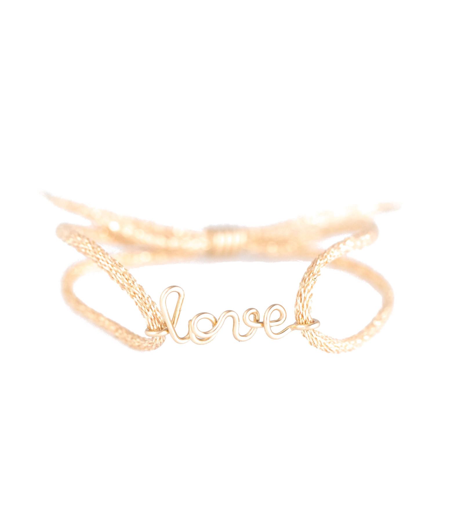 ATELIER PAULIN - Bracelet Cordon Lurex Enfant Love Gold Filled