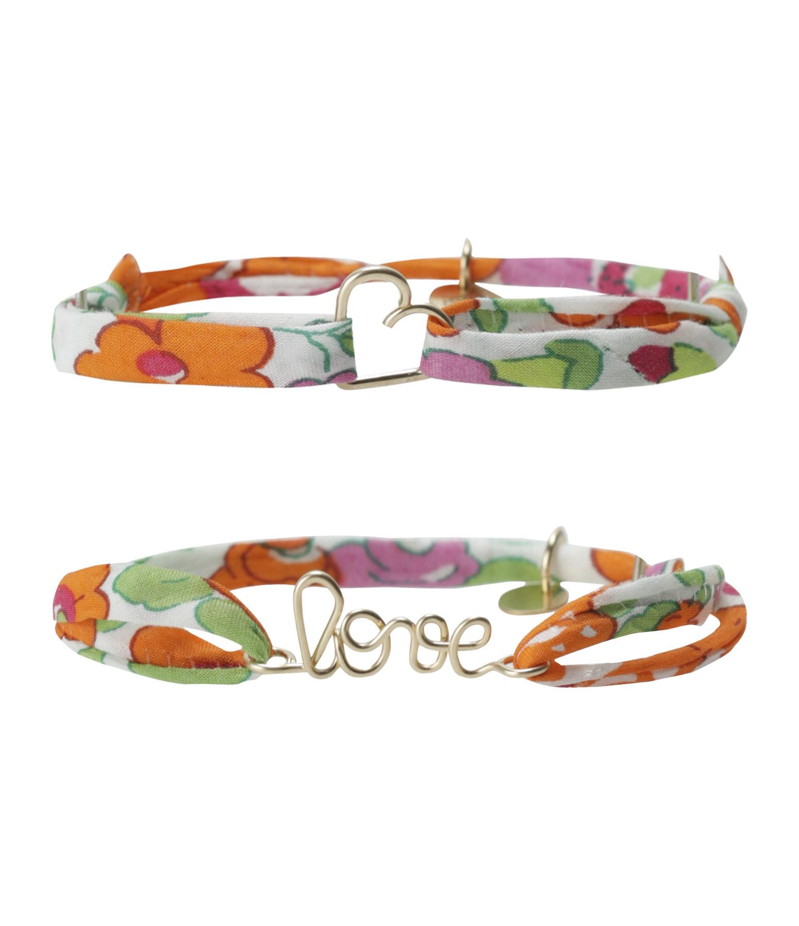 ATELIER PAULIN - Bracelets Duo Love Coeur Gold Filled 14K Mandarine