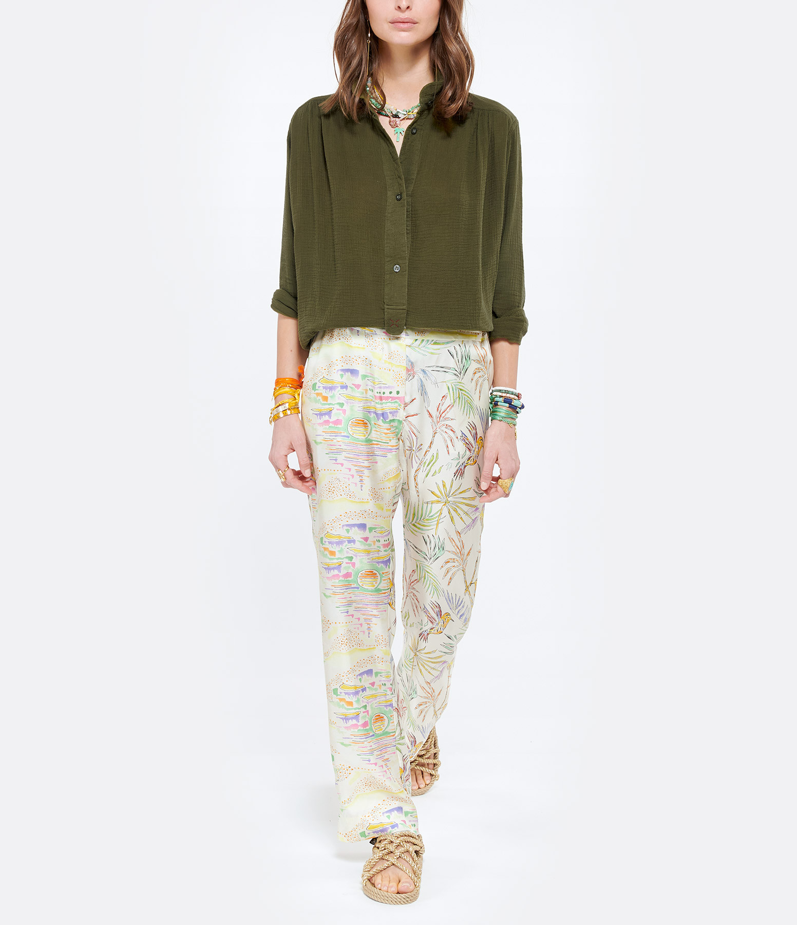LOVE & LET DYE - Tunique Fairfax Coton Vert Army