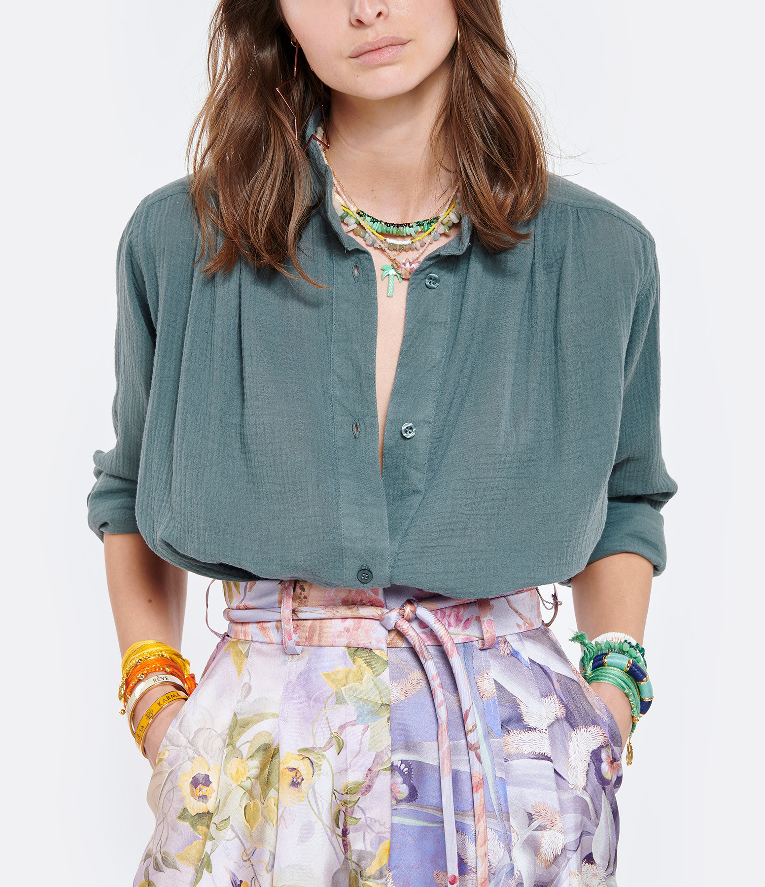 LOVE & LET DYE - Tunique Fairfax Coton Bleu