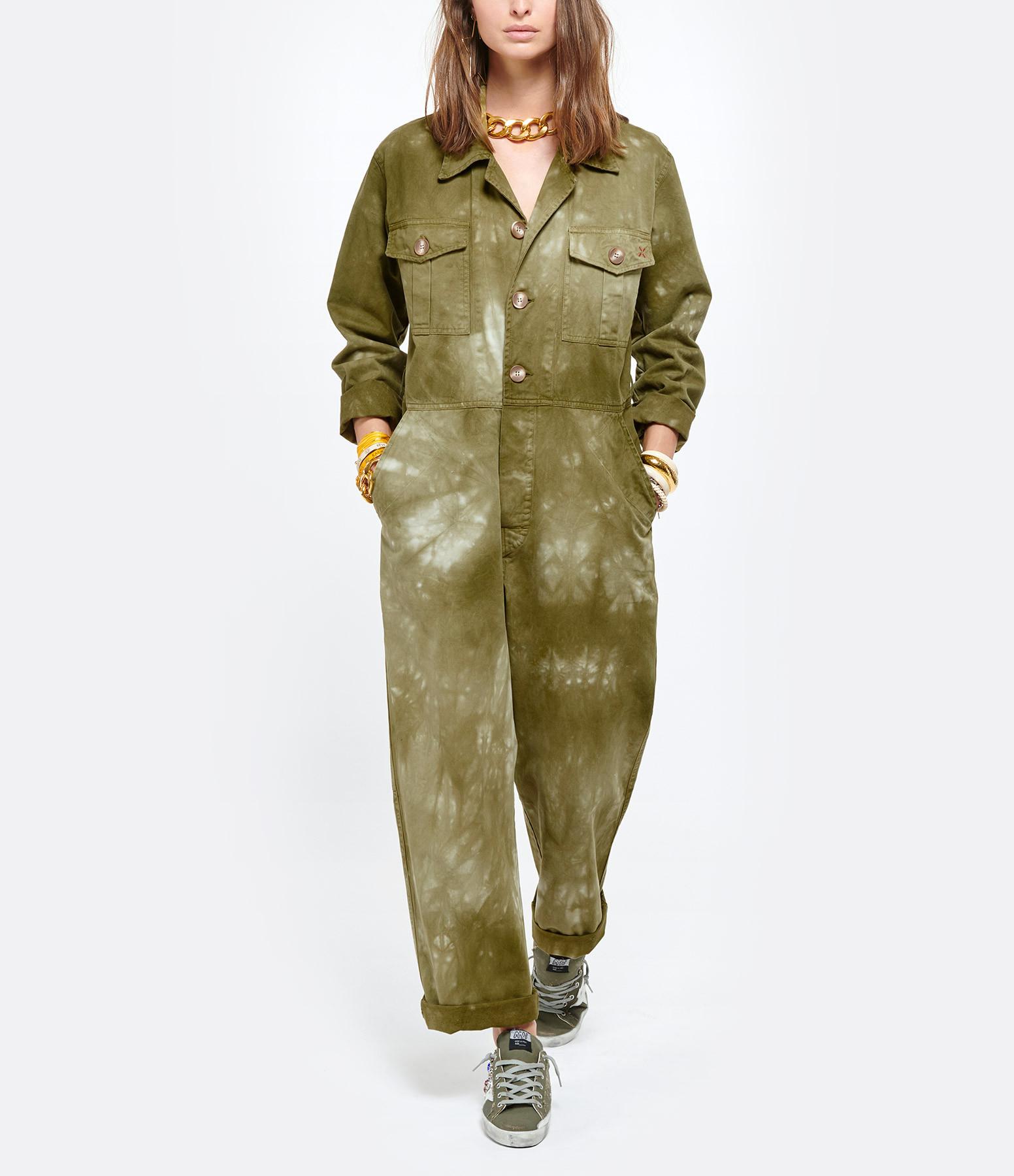LOVE & LET DYE - Combinaison Brooklyn Coton Vert Army