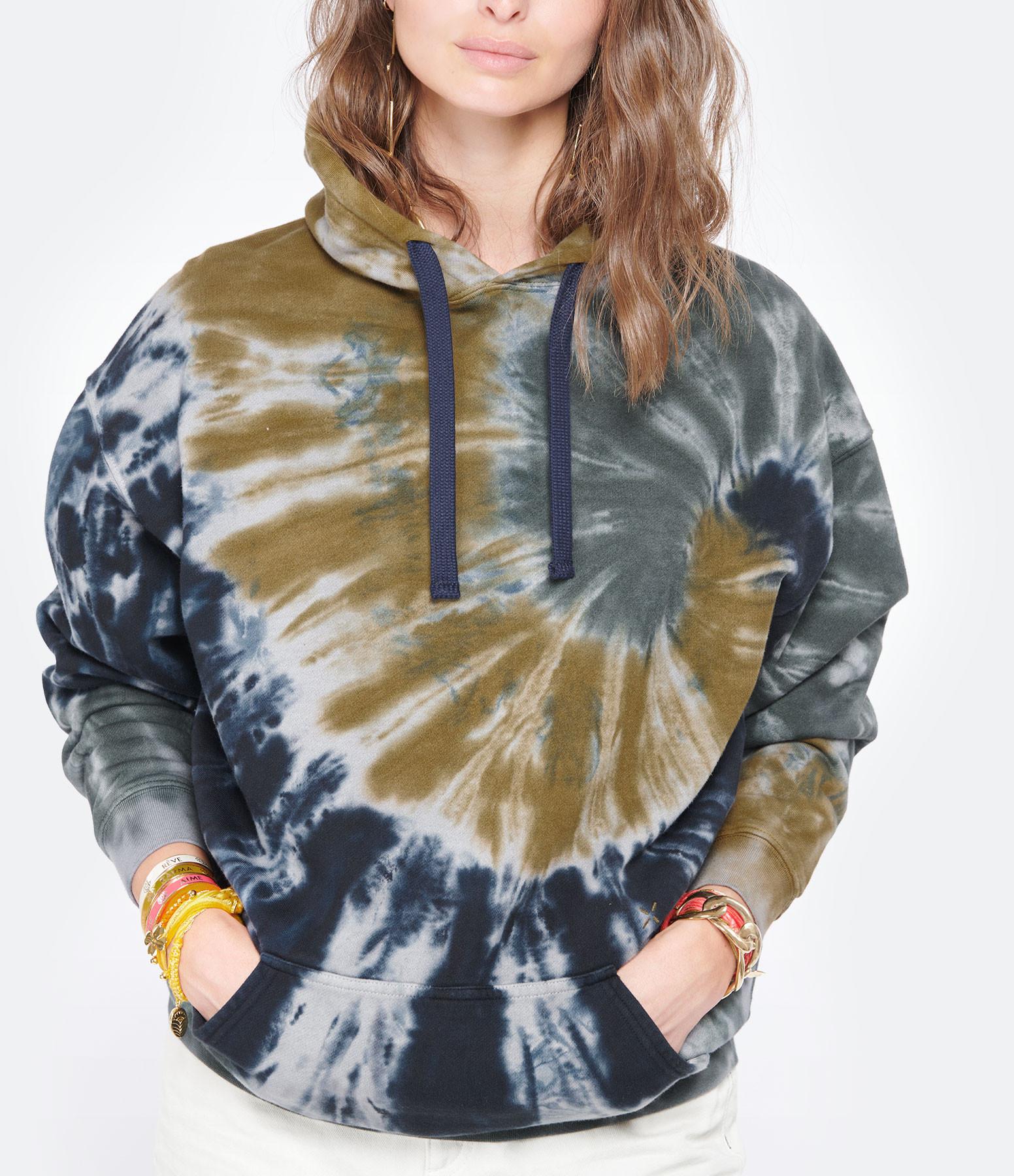LOVE & LET DYE - Sweatshirt Malibu Coton Bleu Safran