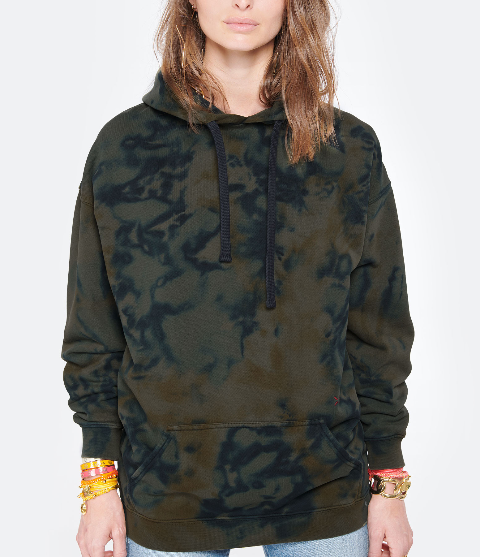 LOVE & LET DYE - Sweatshirt Malibu Coton Navy Vert Army