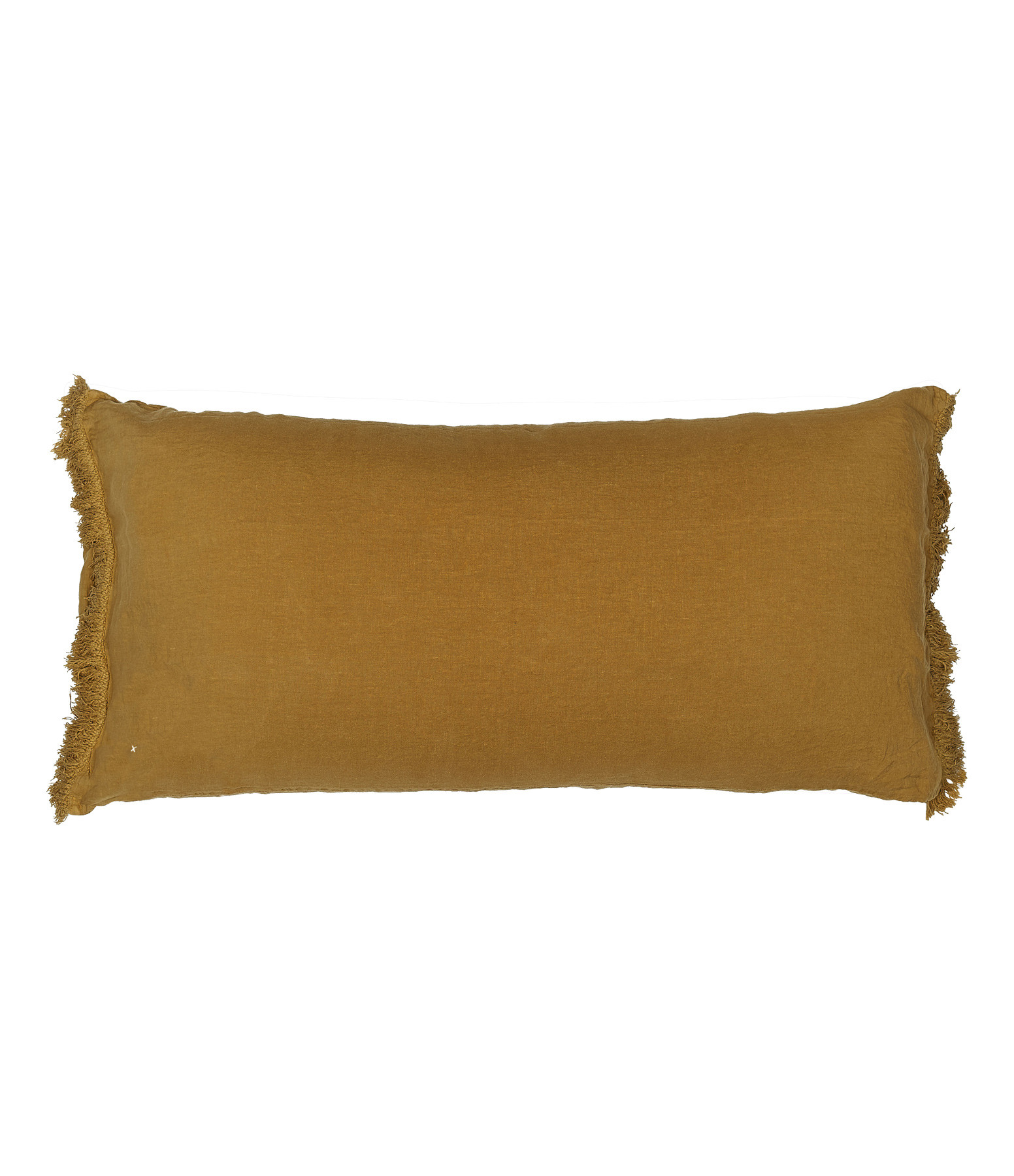 BED AND PHILOSOPHY - Coussin Lovers Frangé Lin Butternut