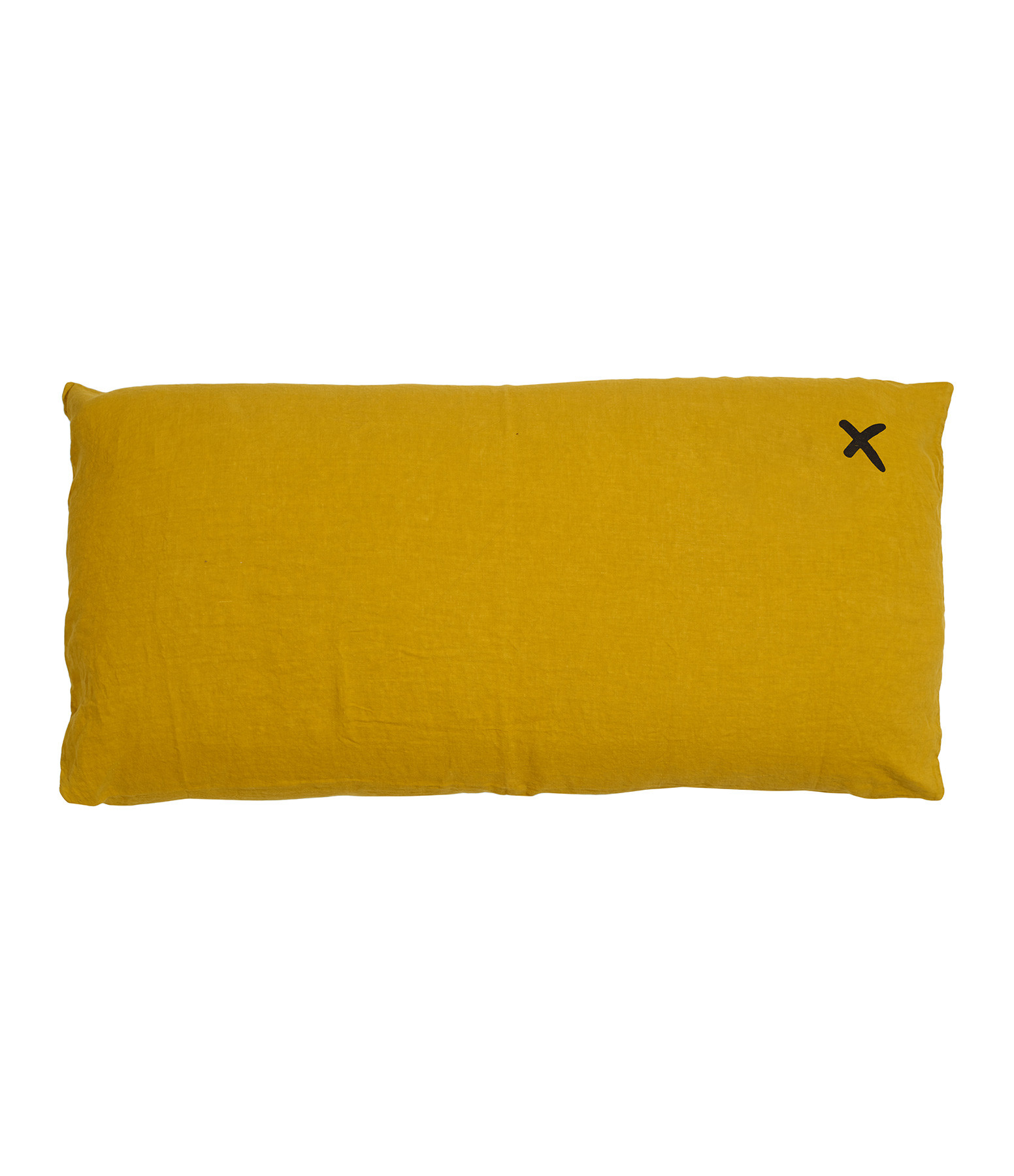 BED AND PHILOSOPHY - Coussin Lovers Lin Curry Print Noir