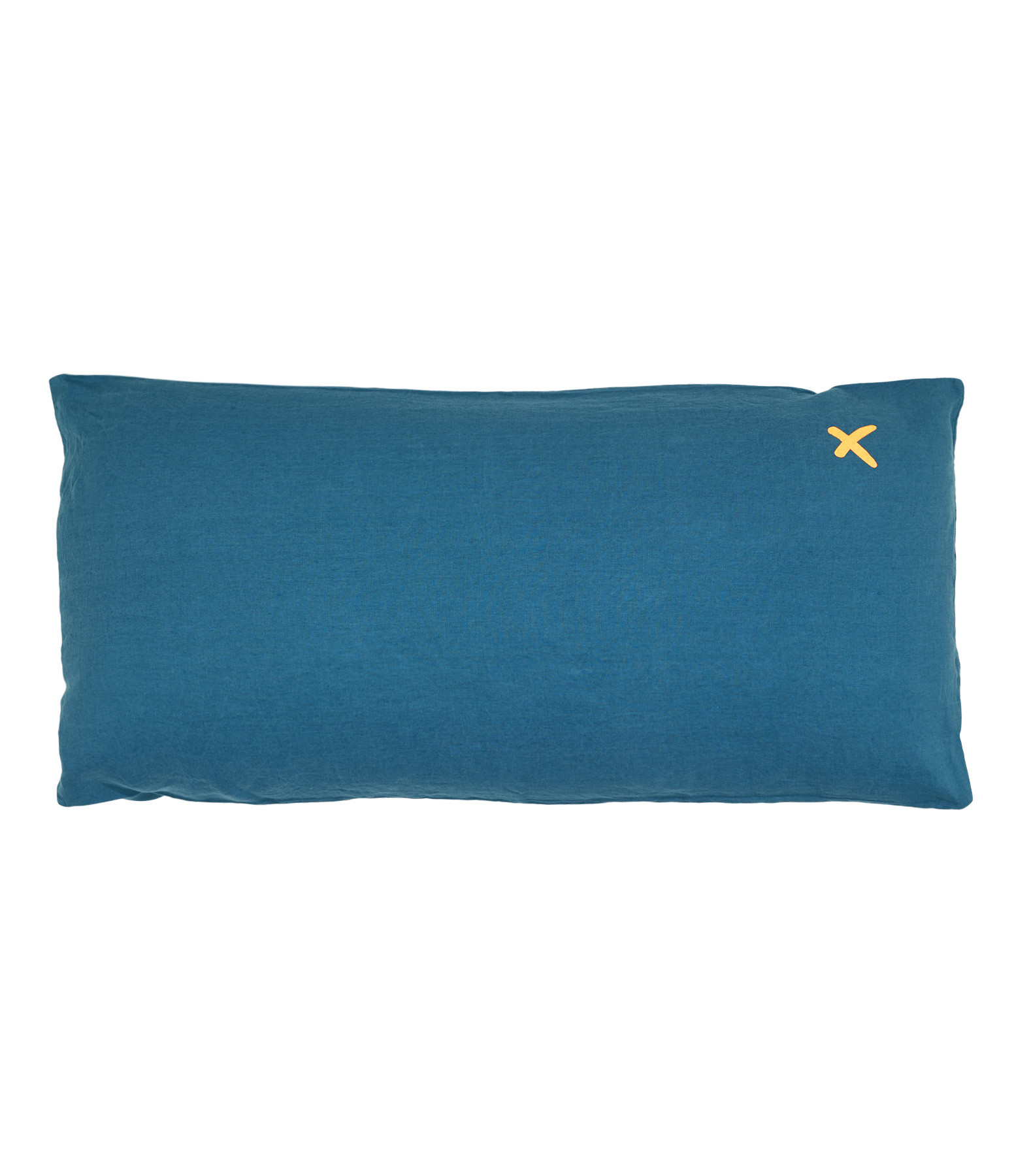 BED AND PHILOSOPHY - Coussin Lovers Lin Piscine Print Croix Doré