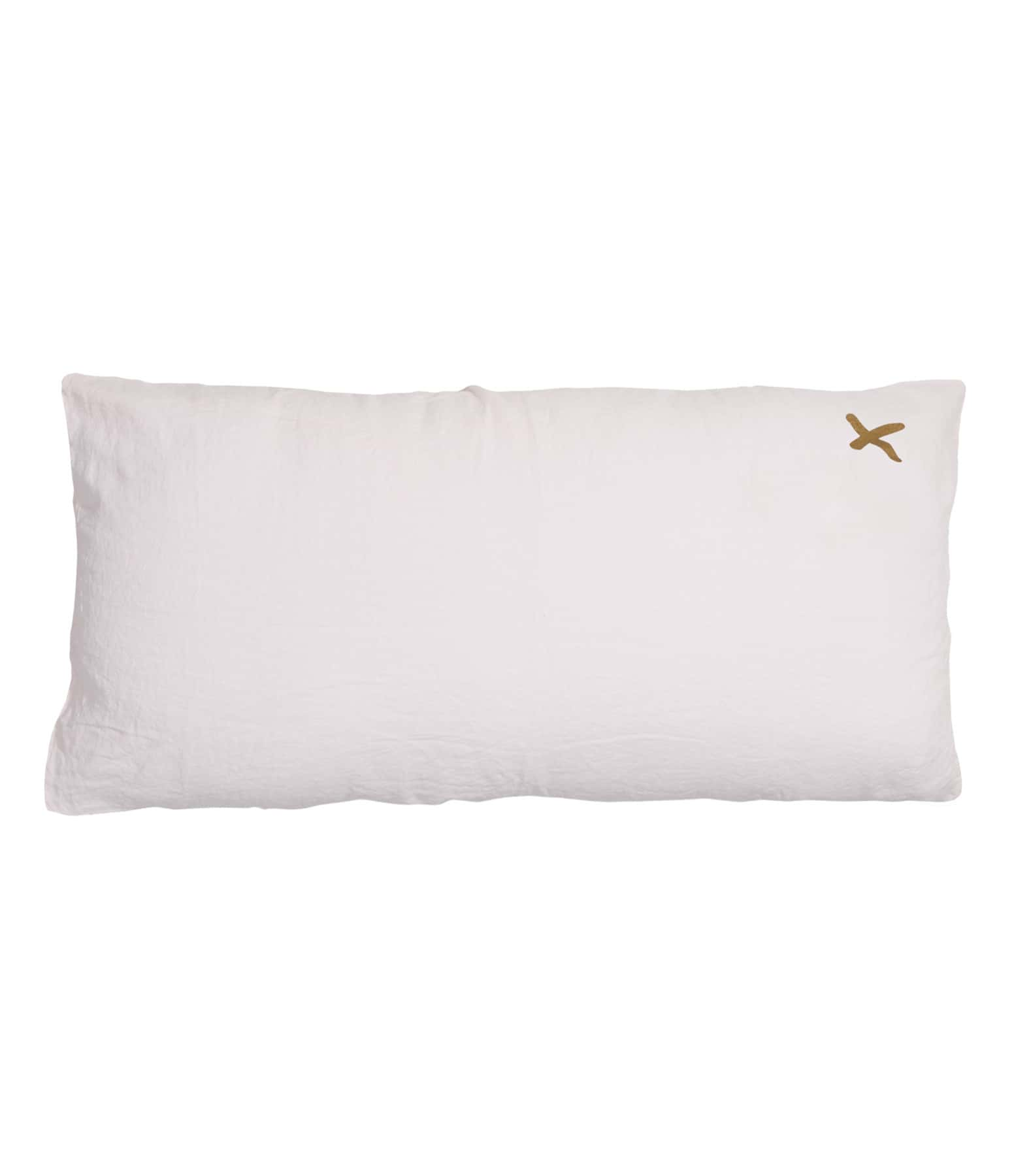 BED AND PHILOSOPHY - Coussin Lovers Lin Shamalo Print Croix Doré
