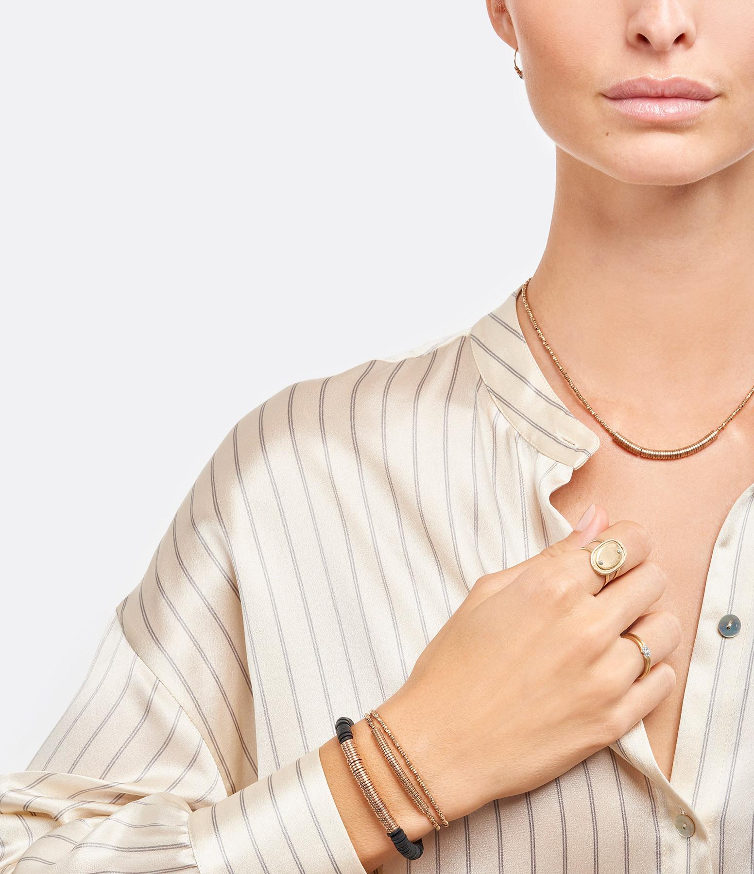 LSONGE - Bracelet Puka Chic XL Noir Rose