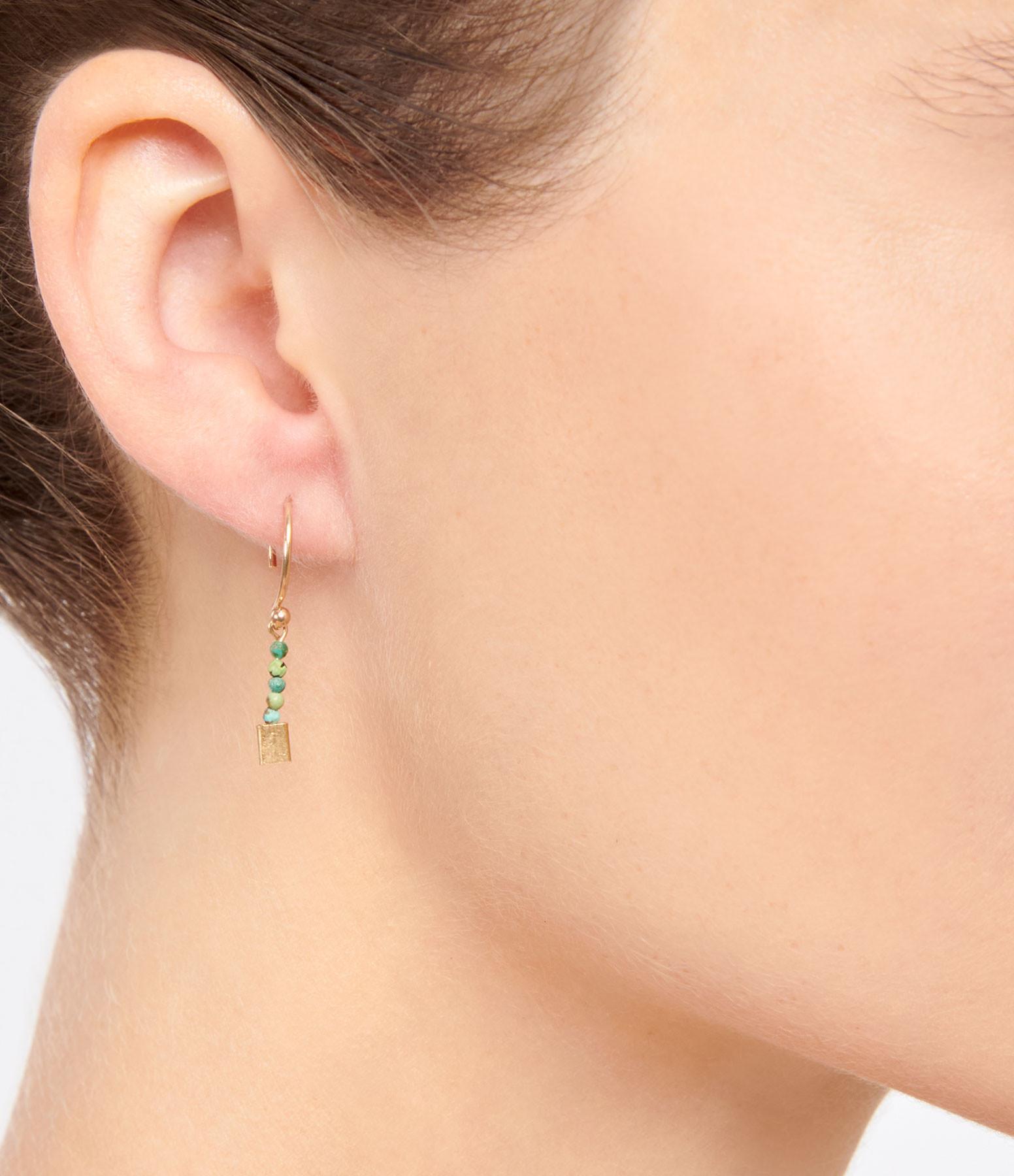 LSONGE - Boucles d'oreilles Lakota 6 Perles Turquoise