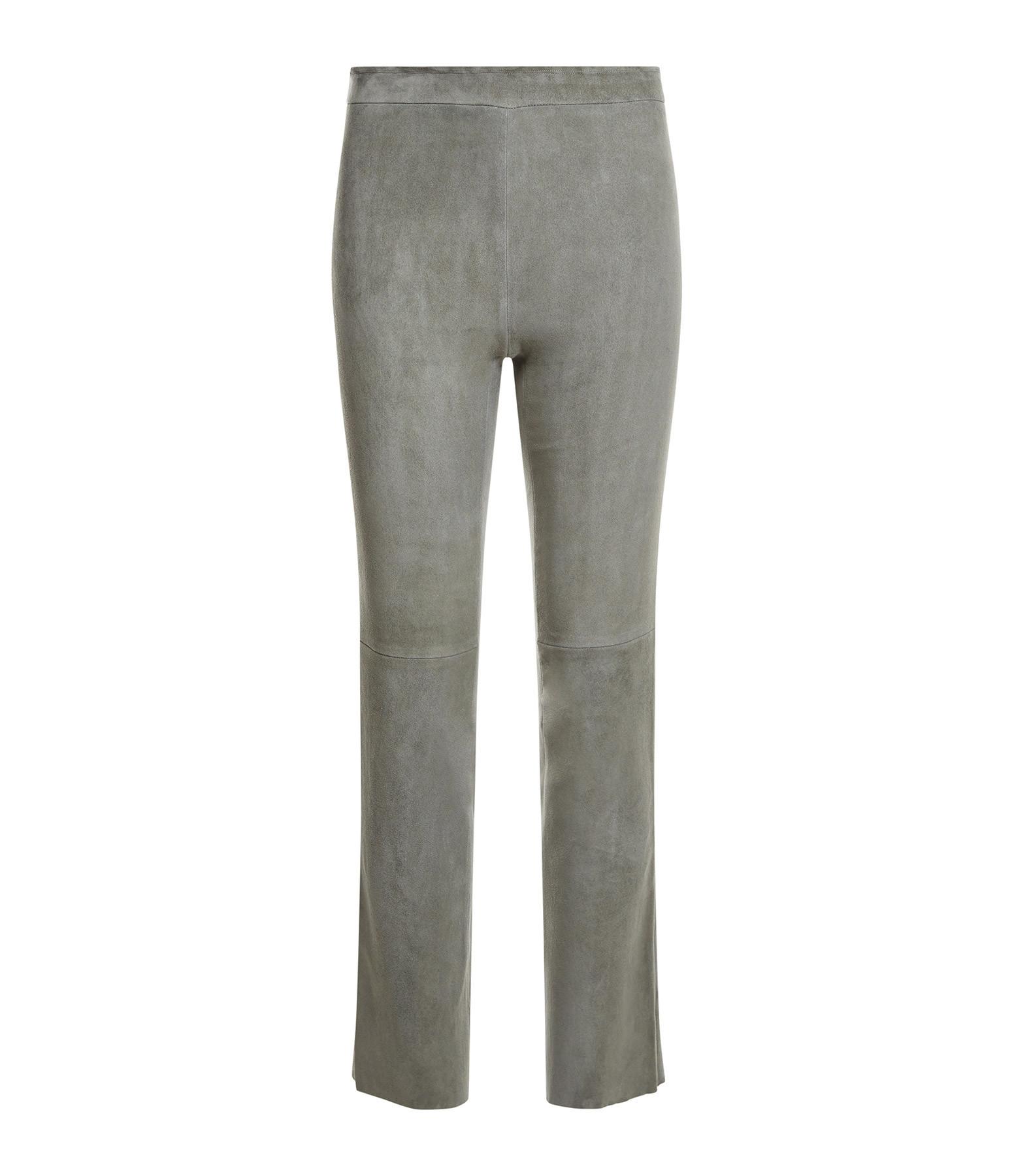 STOULS - Pantalon Larry Agneau Velours Light Cendre