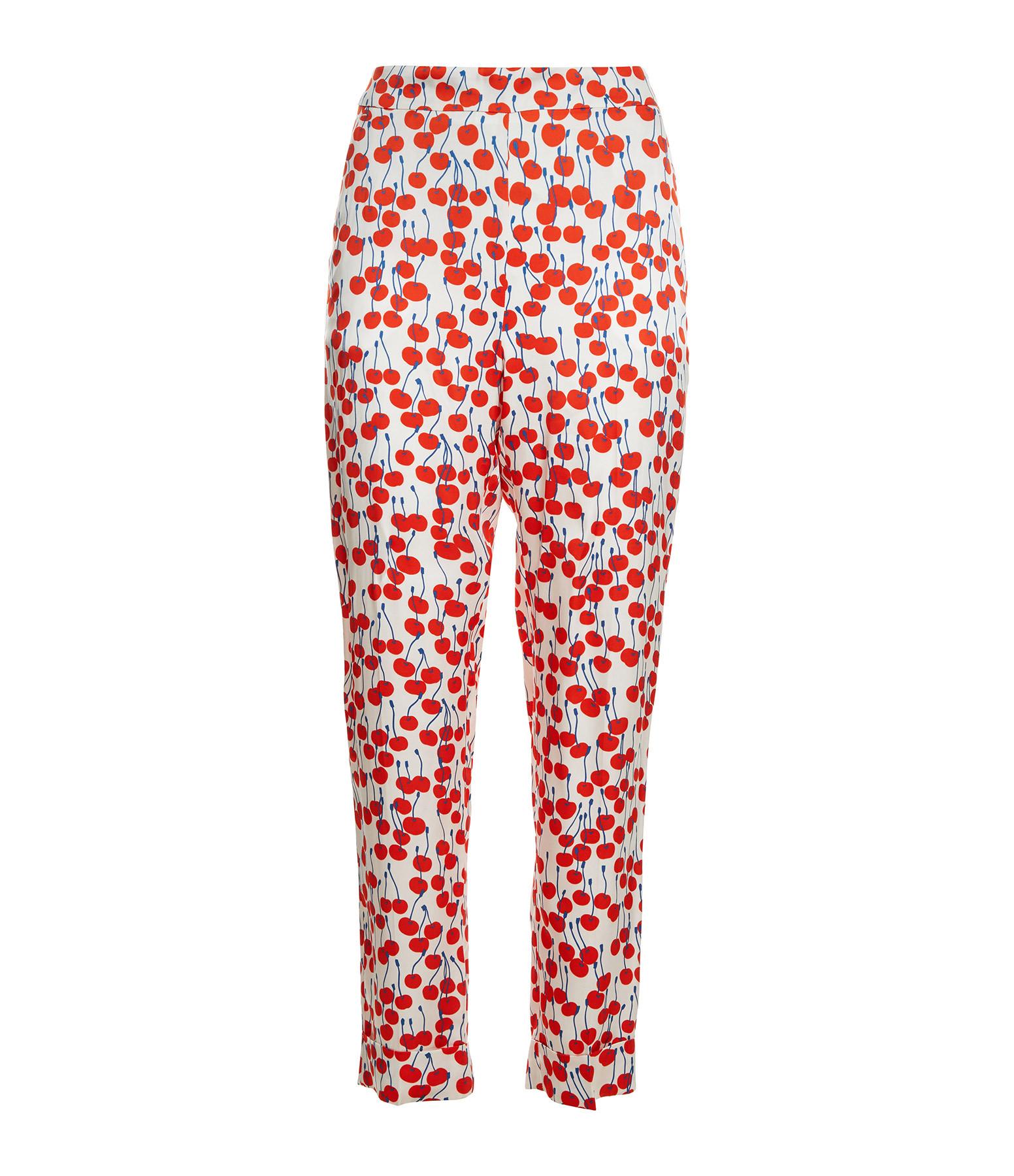 VICTORIA VICTORIA BECKHAM - Pantalon Pyjama Imprimé Cerise