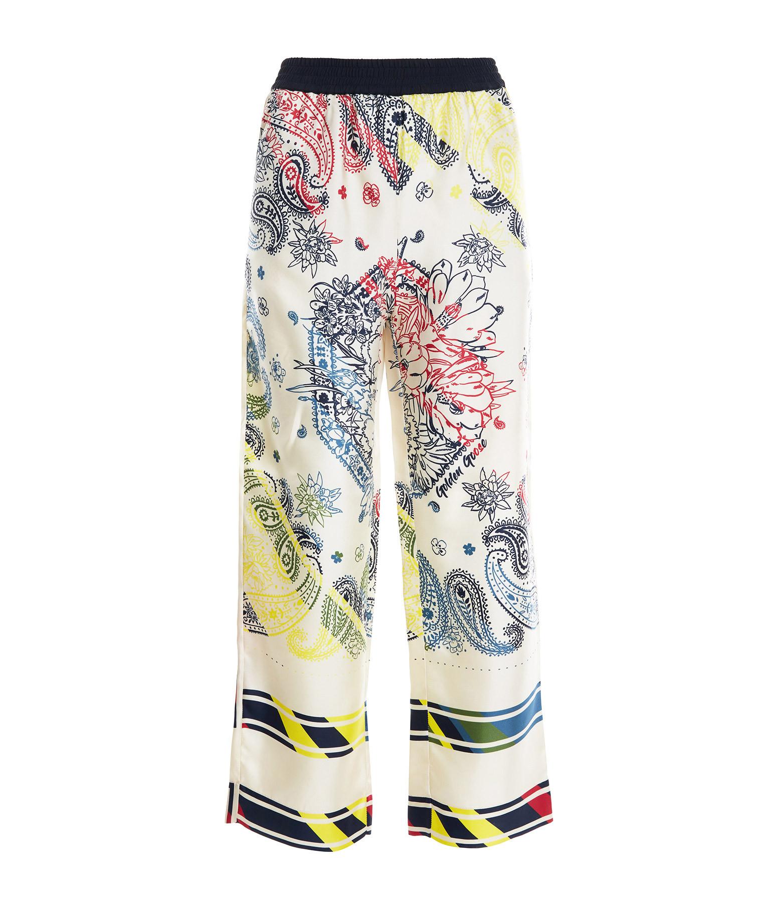 GOLDEN GOOSE - Pantalon Jogger Soie Imprimé Bandana