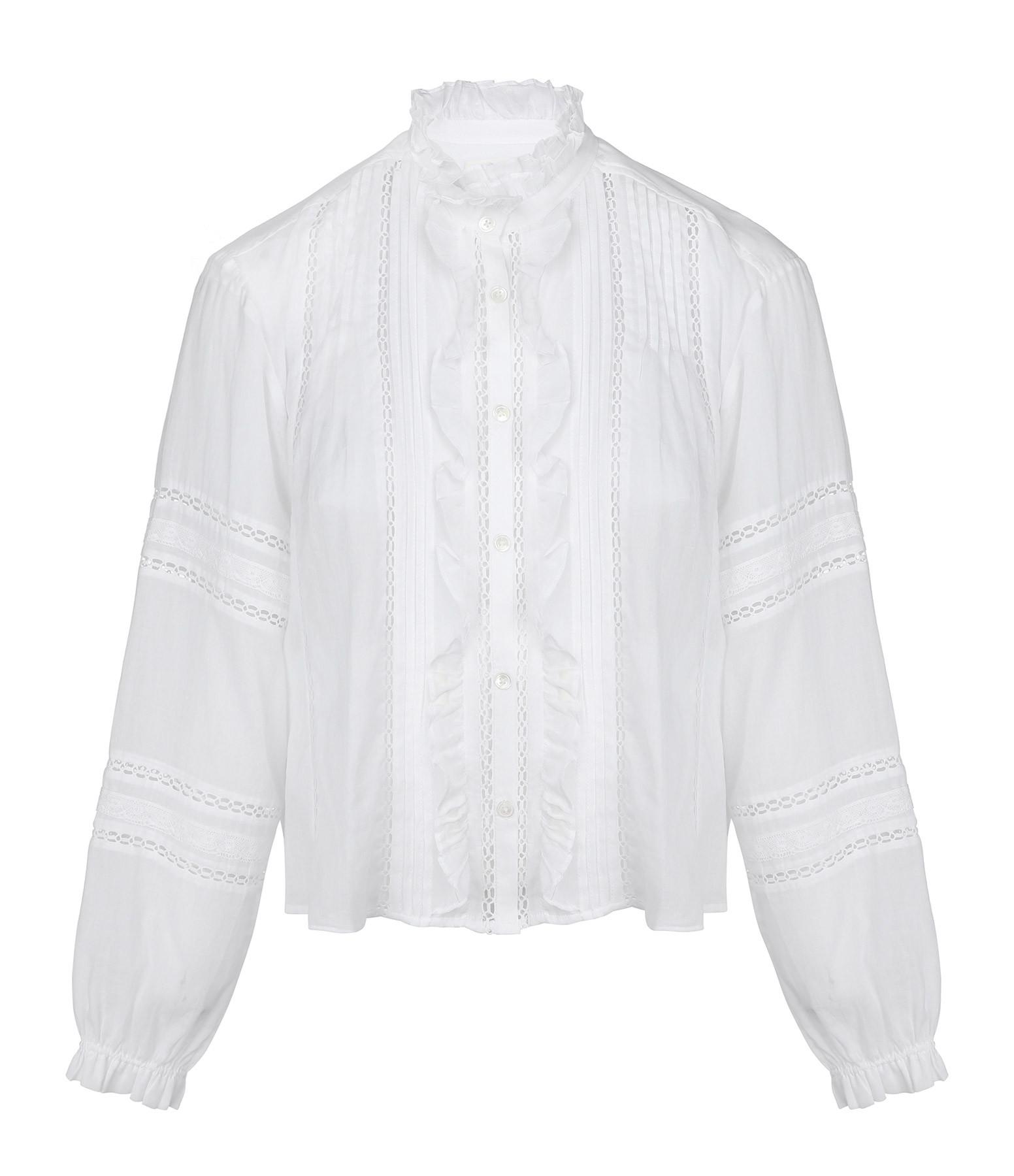 ISABEL MARANT ÉTOILE - Chemise Valda Coton Blanc