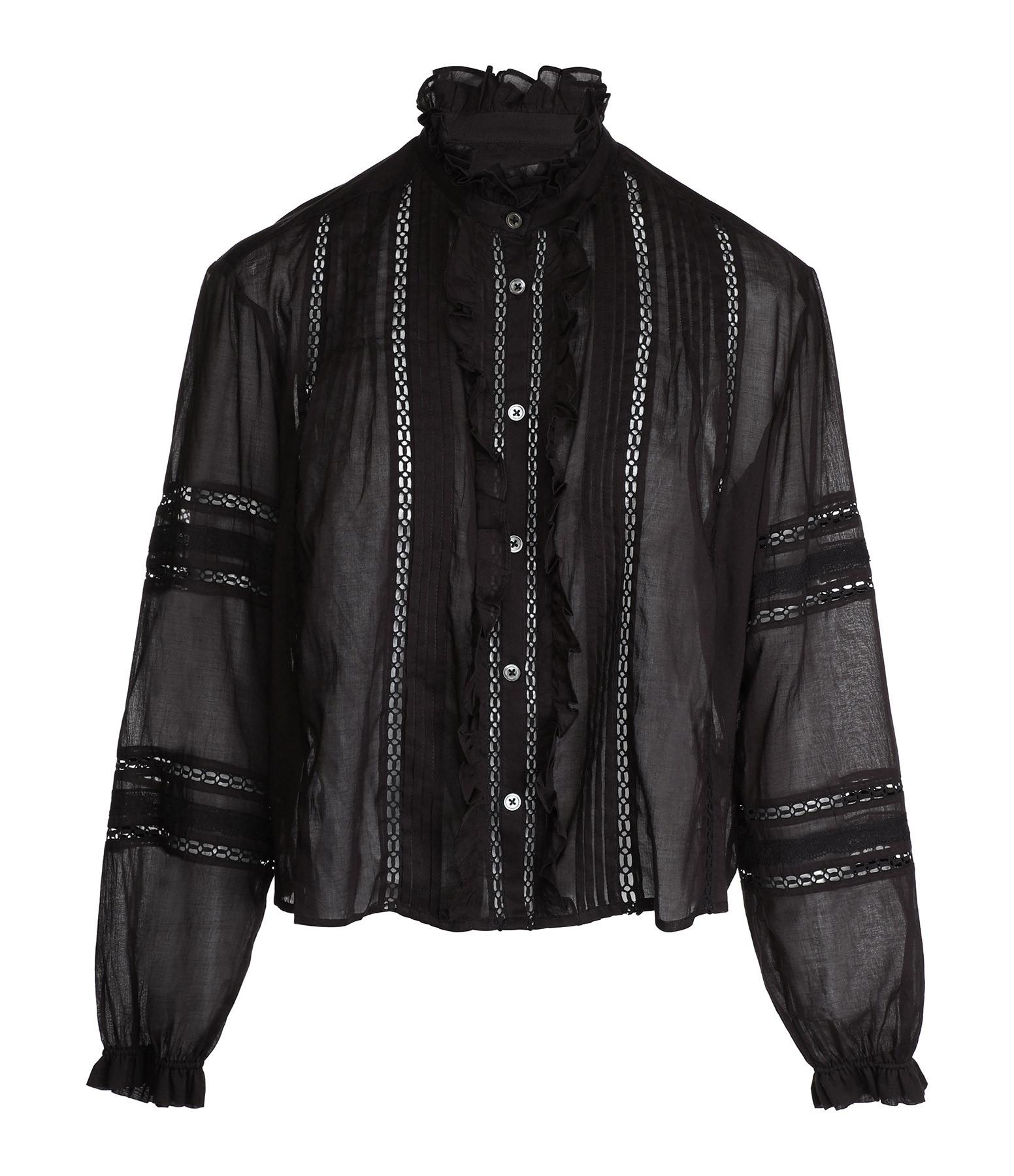 ISABEL MARANT ÉTOILE - Chemise Valda Coton Noir