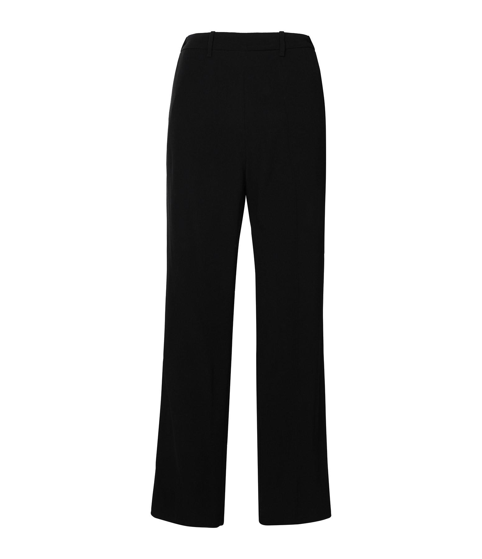 FORTE_FORTE - Pantalon Satin Crêpe Noir