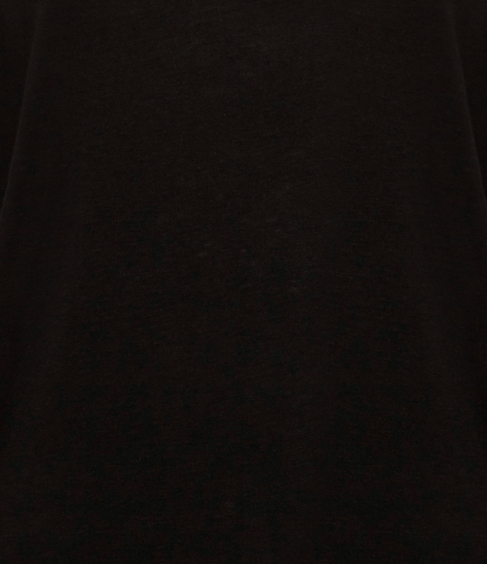 MAJESTIC FILATURES - Tee-shirt Manches 3/4 Lin Noir