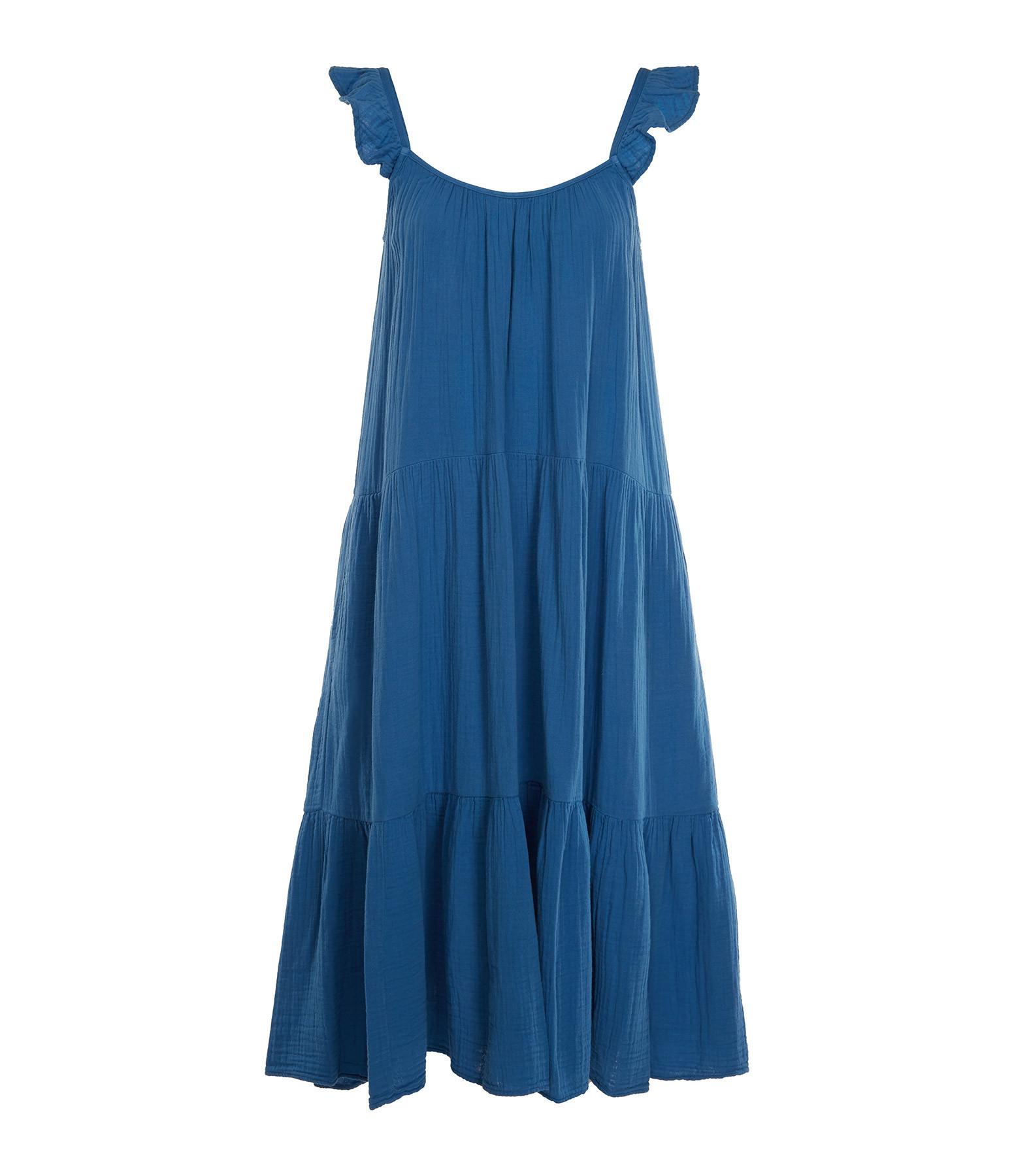 XIRENA - Robe Rumer Coton Bleu