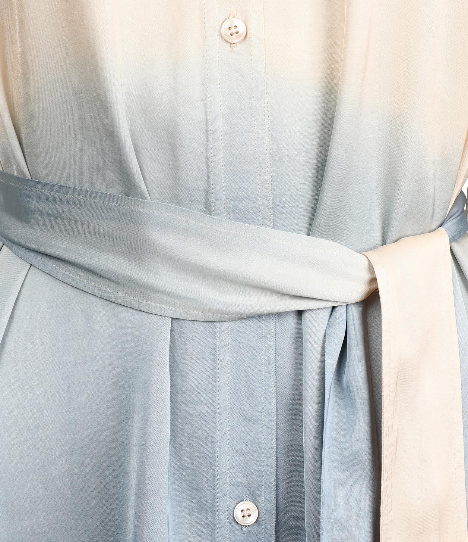 FORTE_FORTE - Robe Chemise Ceinture Satin Indigo
