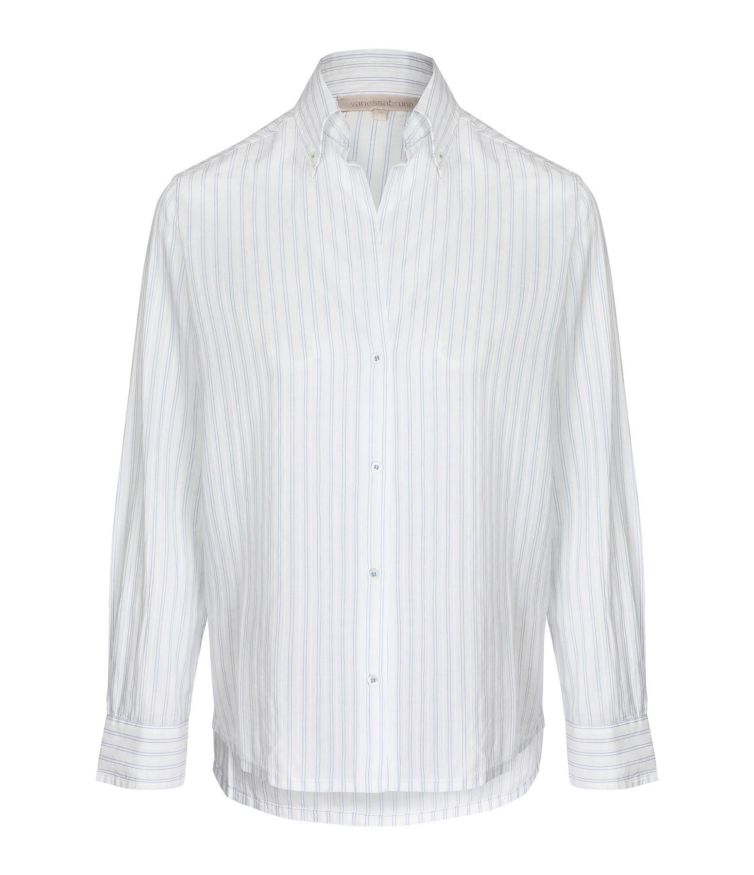 VANESSA BRUNO - Chemise Druyat Coton Blanc Bleu