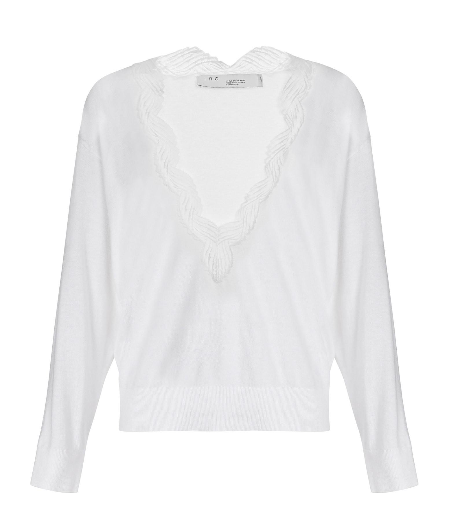 IRO - Pull Juny Coton Blanc
