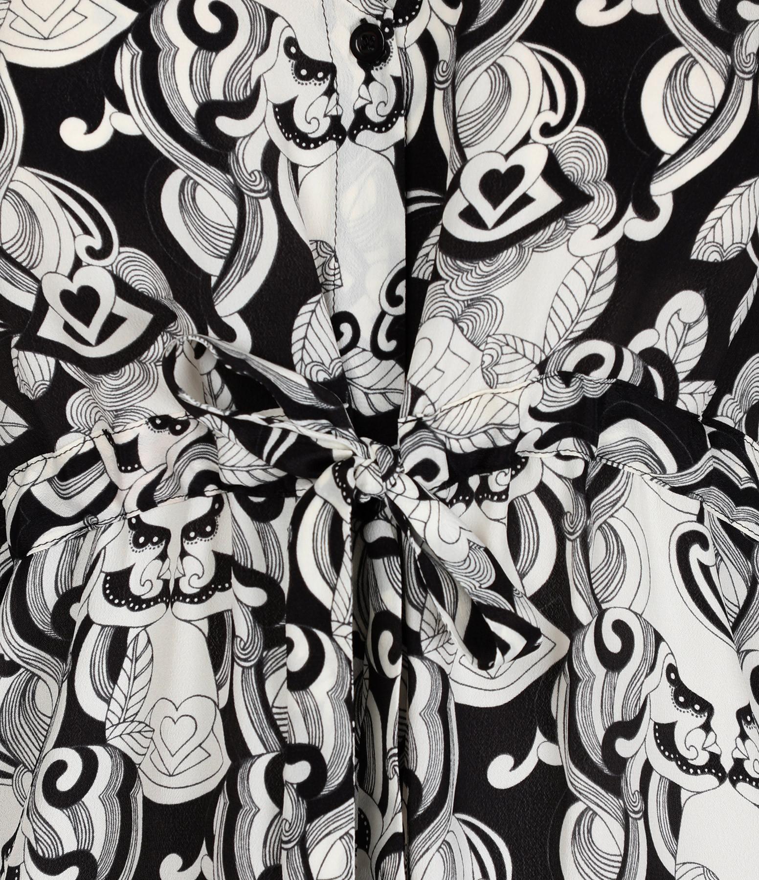 SEE BY CHLOE - Robe Longue Imprimé Noir Blanc