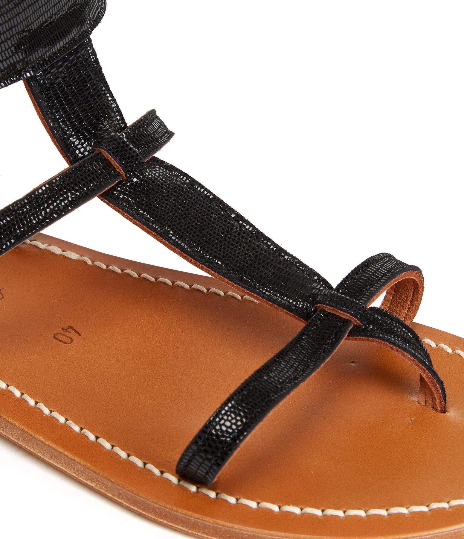K.JACQUES - Sandales Caravelle Cuir Tejus Noir