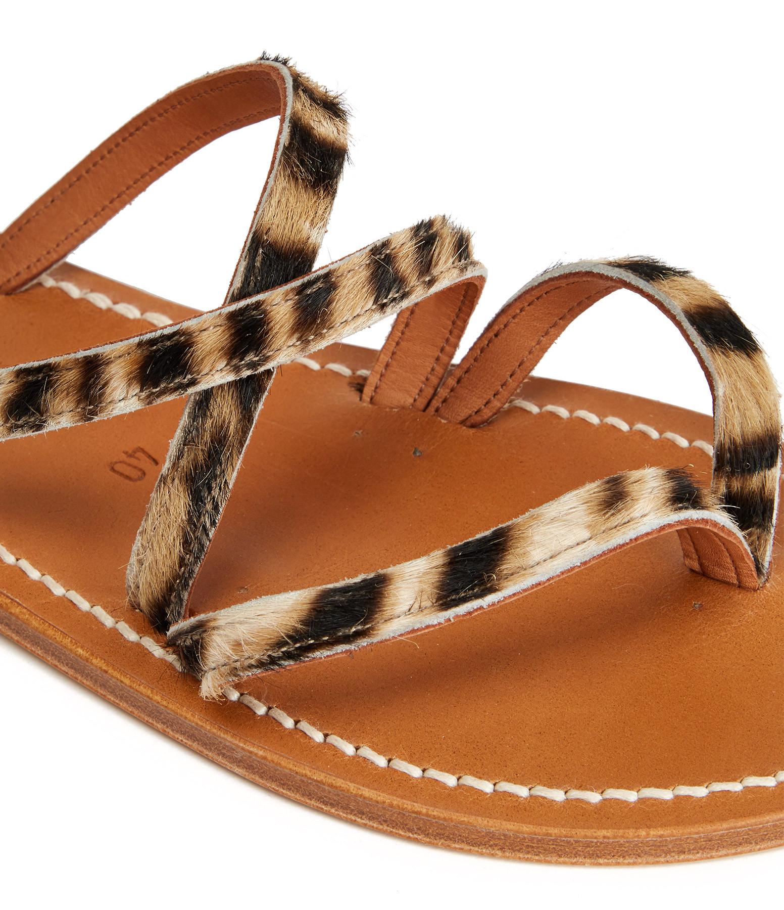 K.JACQUES - Sandales Epicure Cuir Horsy Tigre