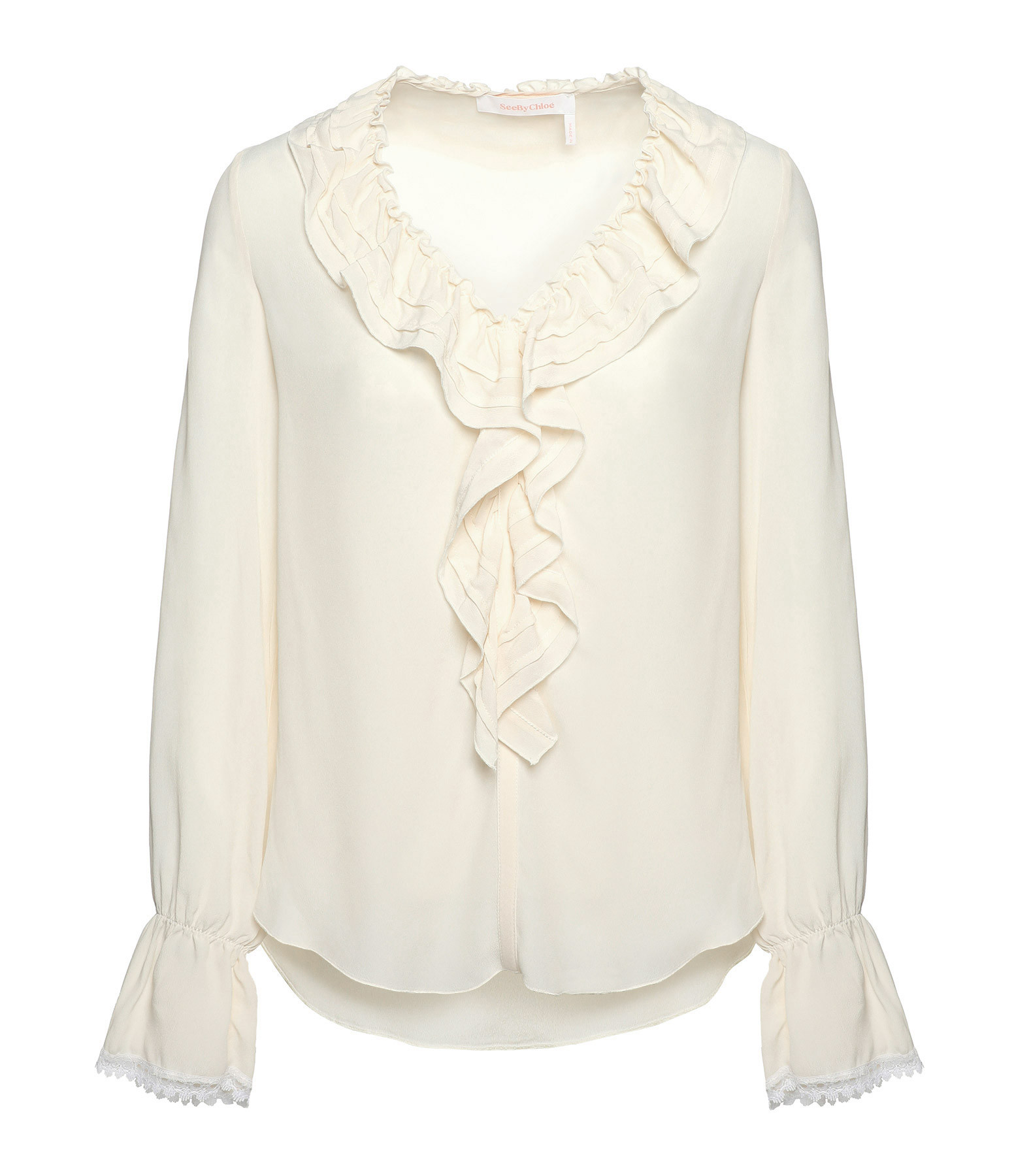 SEE BY CHLOE - Blouse Col Volant Beige Naturel