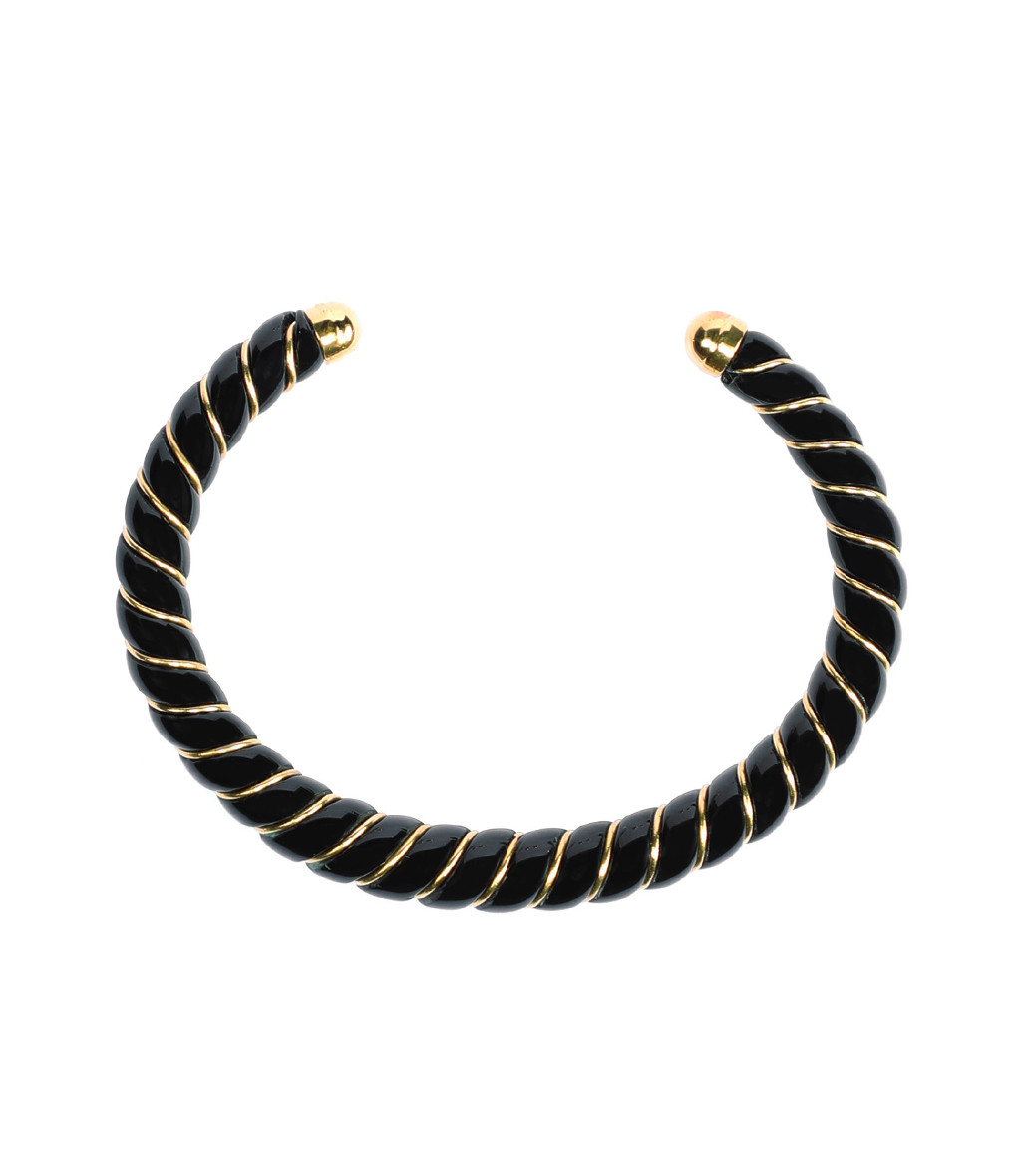 AURELIE BIDERMANN - Bracelet New Diana Noir, Exclusivité Lulli