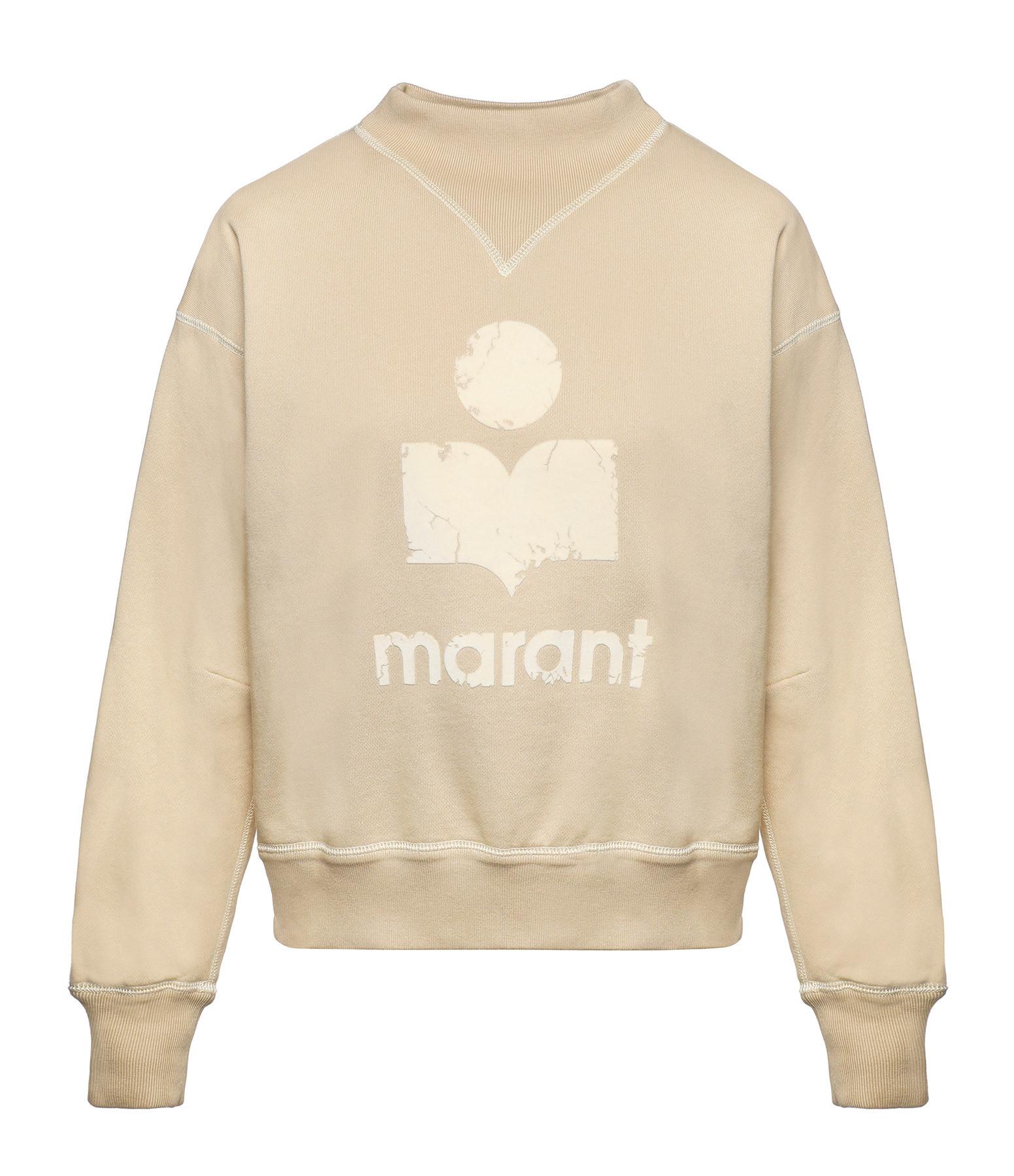 ISABEL MARANT ÉTOILE - Sweatshirt Moby Coton Jaune Clair