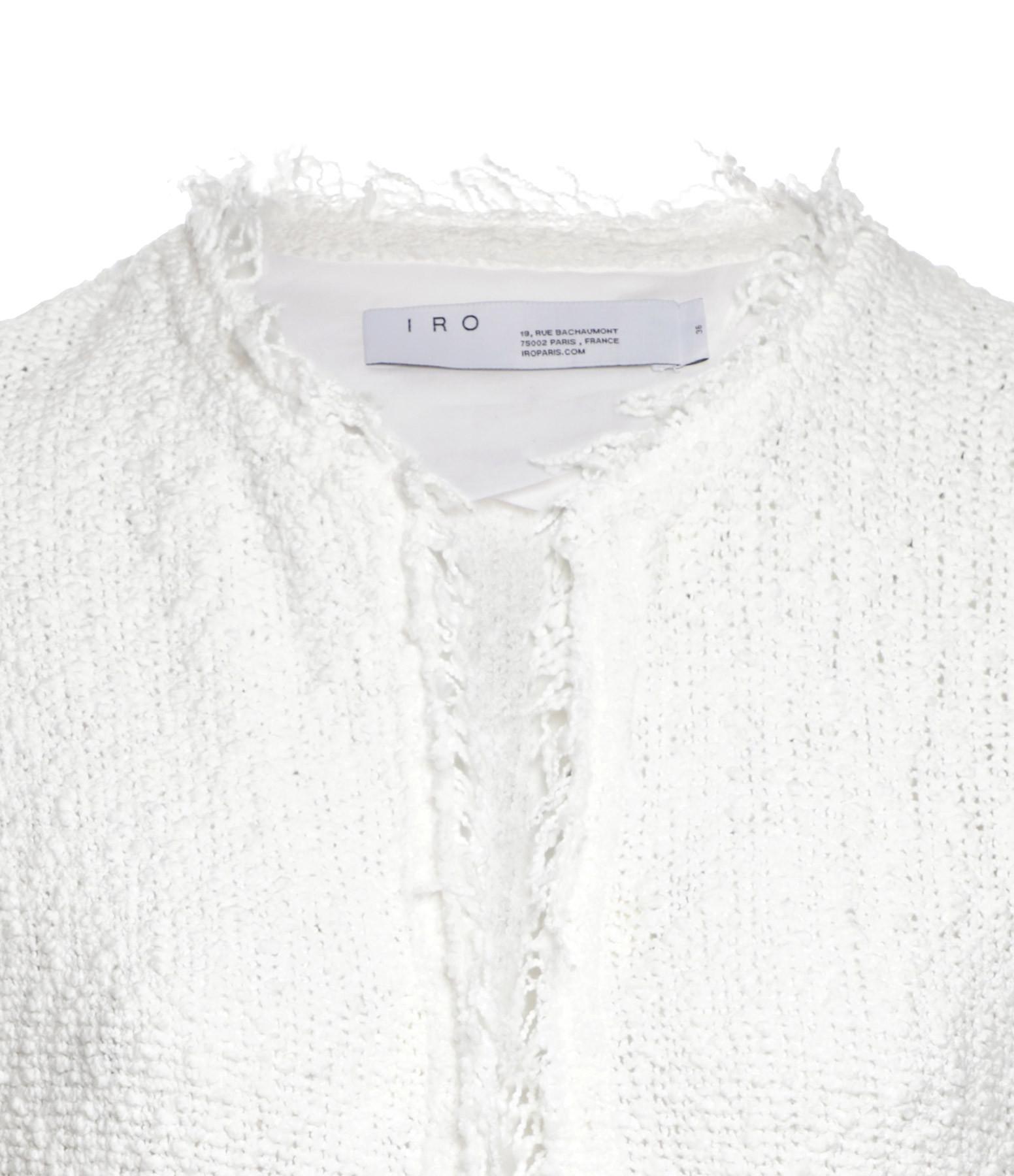 IRO - Veste Shavani Coton Blanc