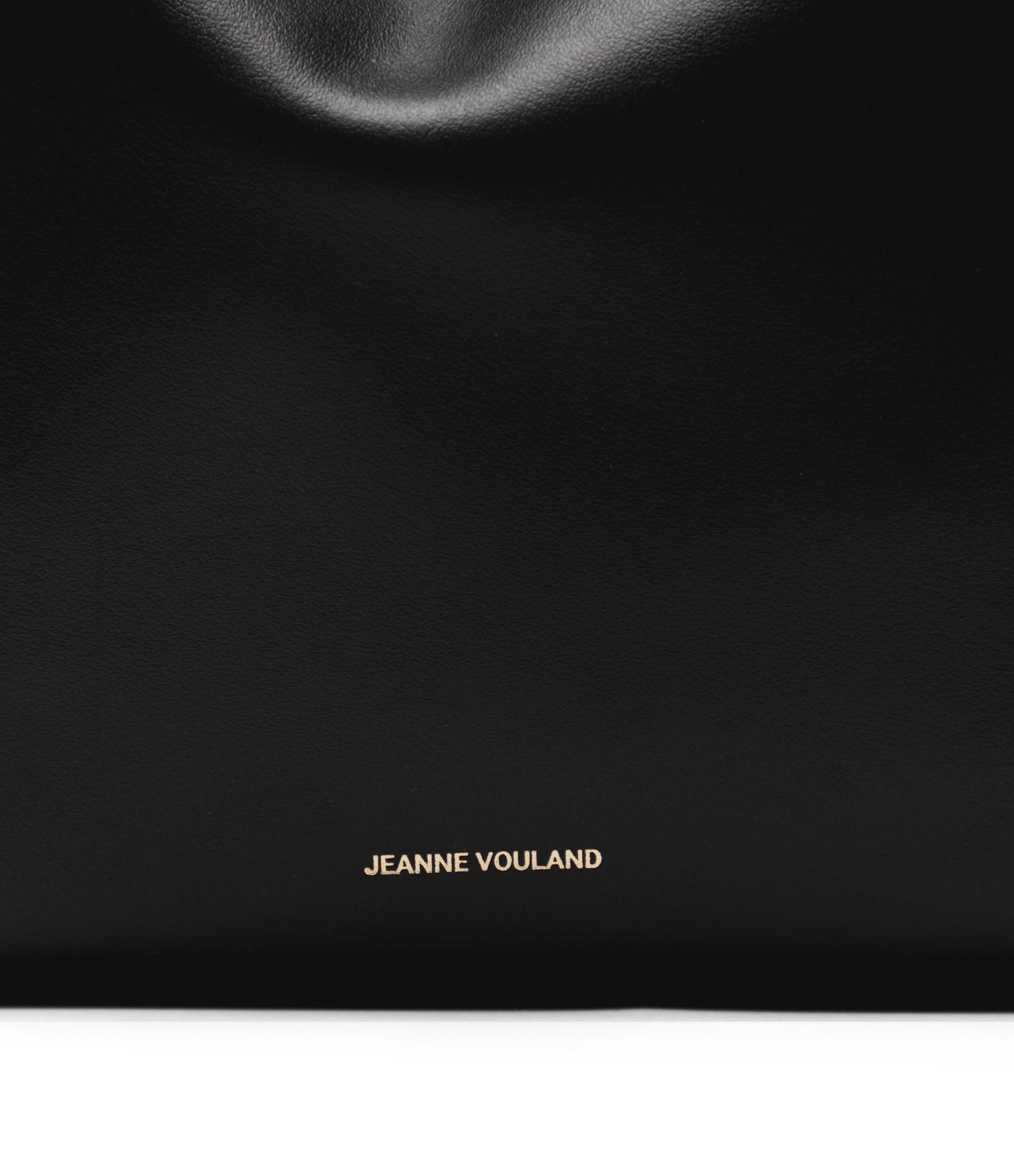 JEANNE VOULAND - Sac Seau San Cuir Lisse Noir