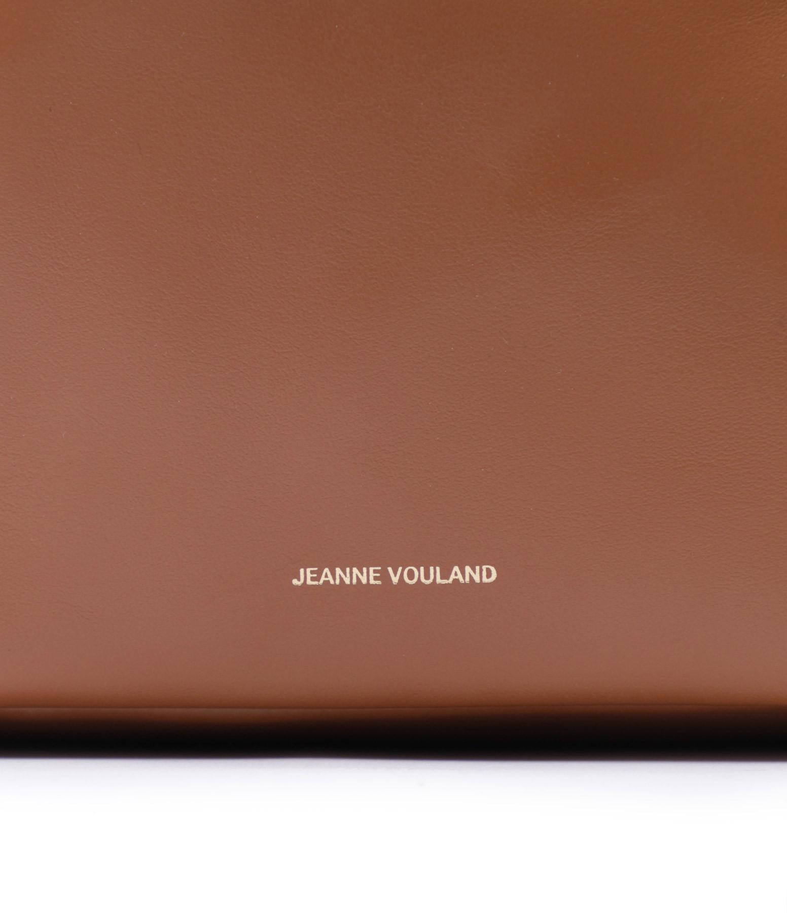 JEANNE VOULAND - Sac Seau San Cuir Lisse Camel