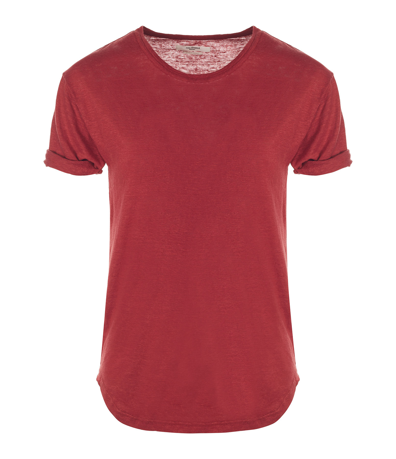 ISABEL MARANT ÉTOILE - Tee-shirt Koldi Lin Rouge