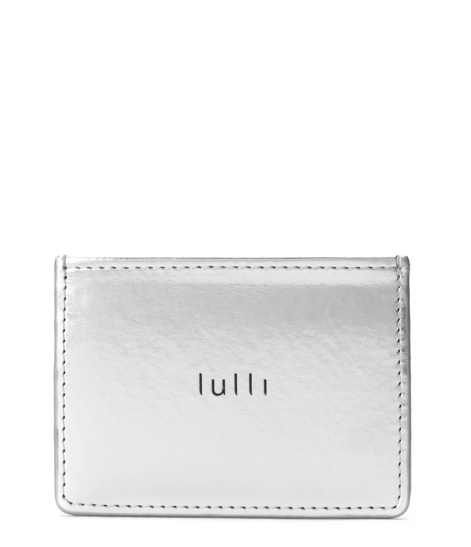 LULLI - Porte-cartes Lulli Cuir Argenté