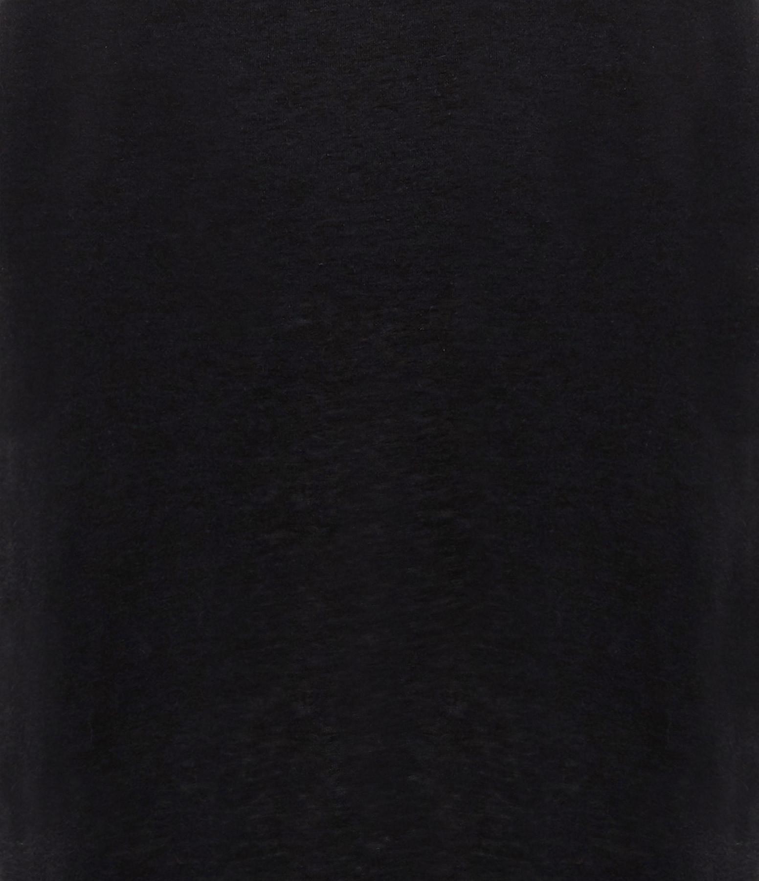 MAJESTIC FILATURES - Robe Droite Lin Noir