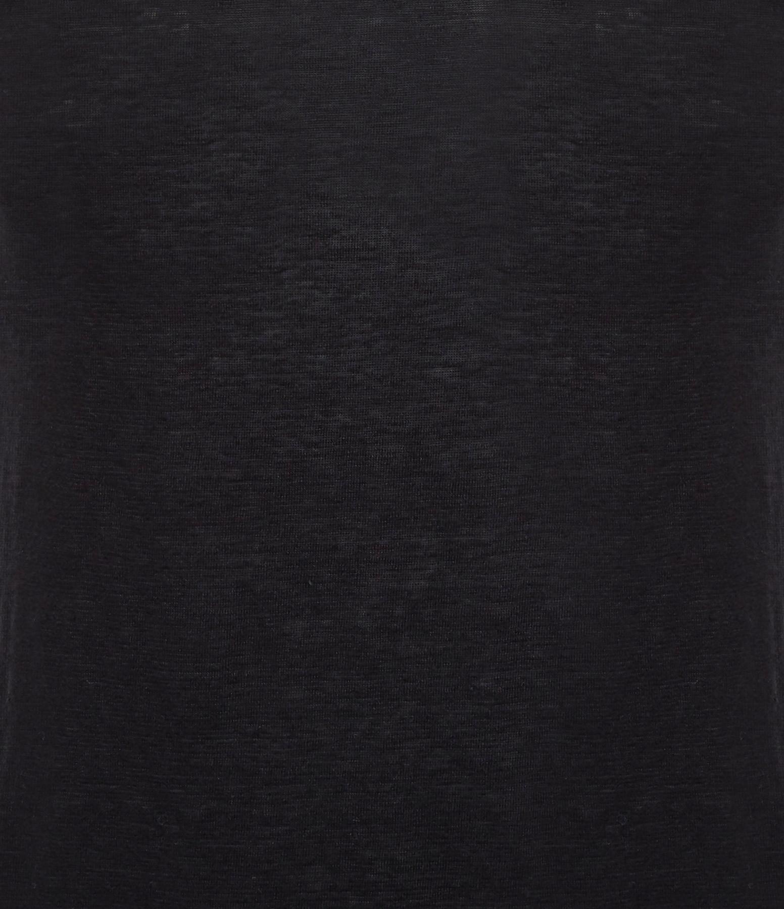 MAJESTIC FILATURES - Tee-shirt Col Rond Lin Noir