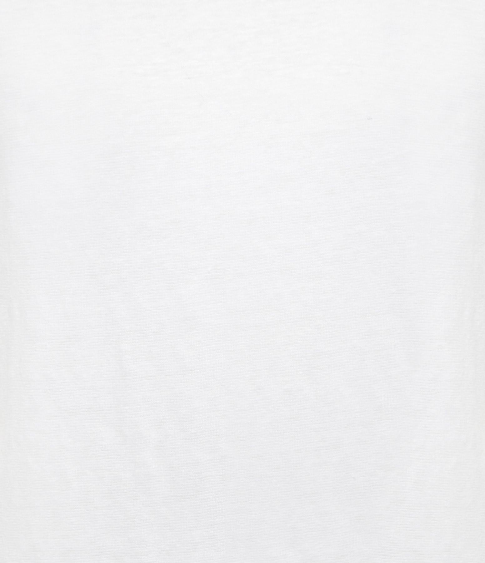 MAJESTIC FILATURES - Tee-shirt Col Rond Lin Blanc
